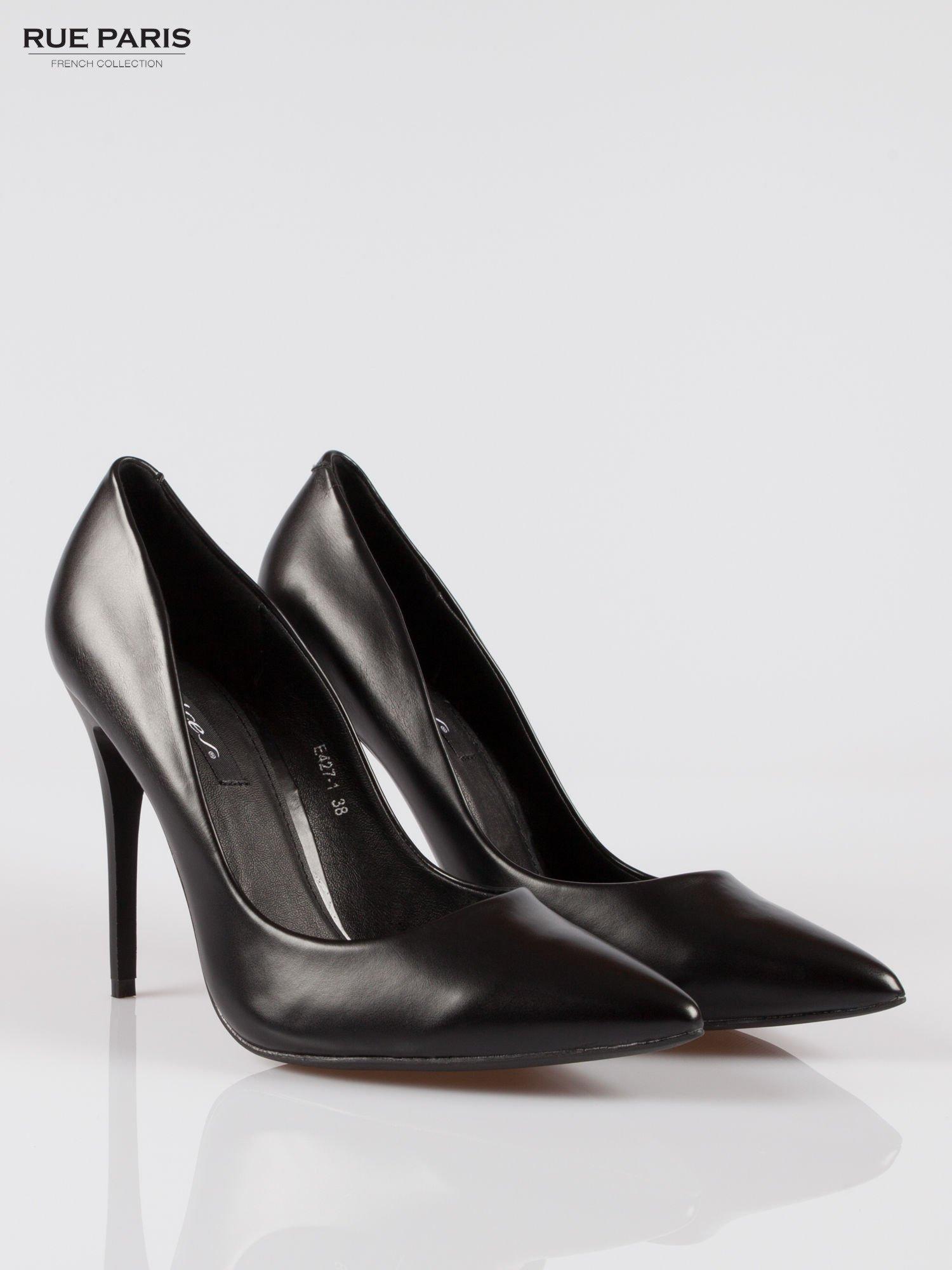 Czarne szpilki high heels z noskiem w szpic                                  zdj.                                  2