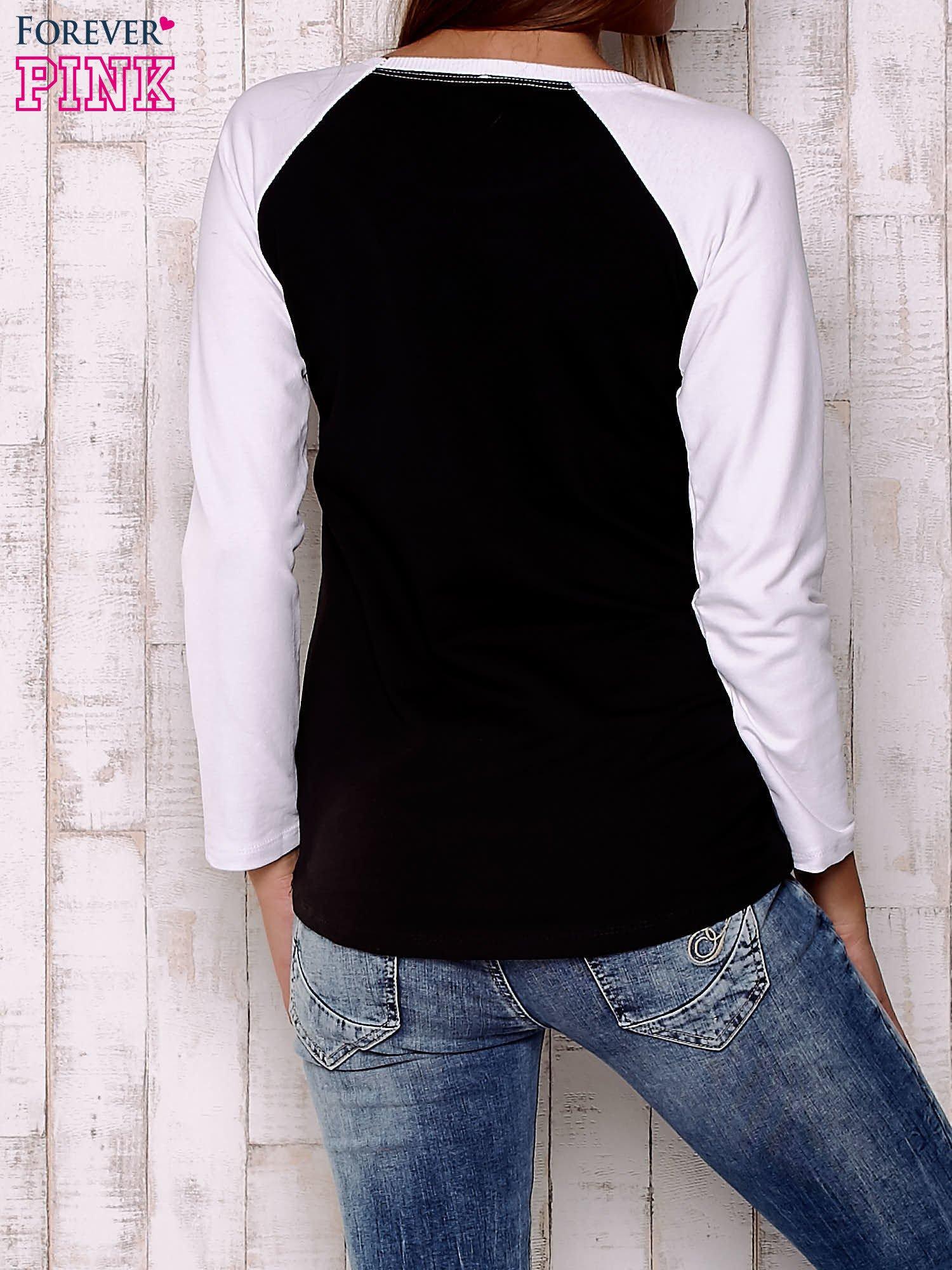 Czarno-biała gładka bluza                                  zdj.                                  4