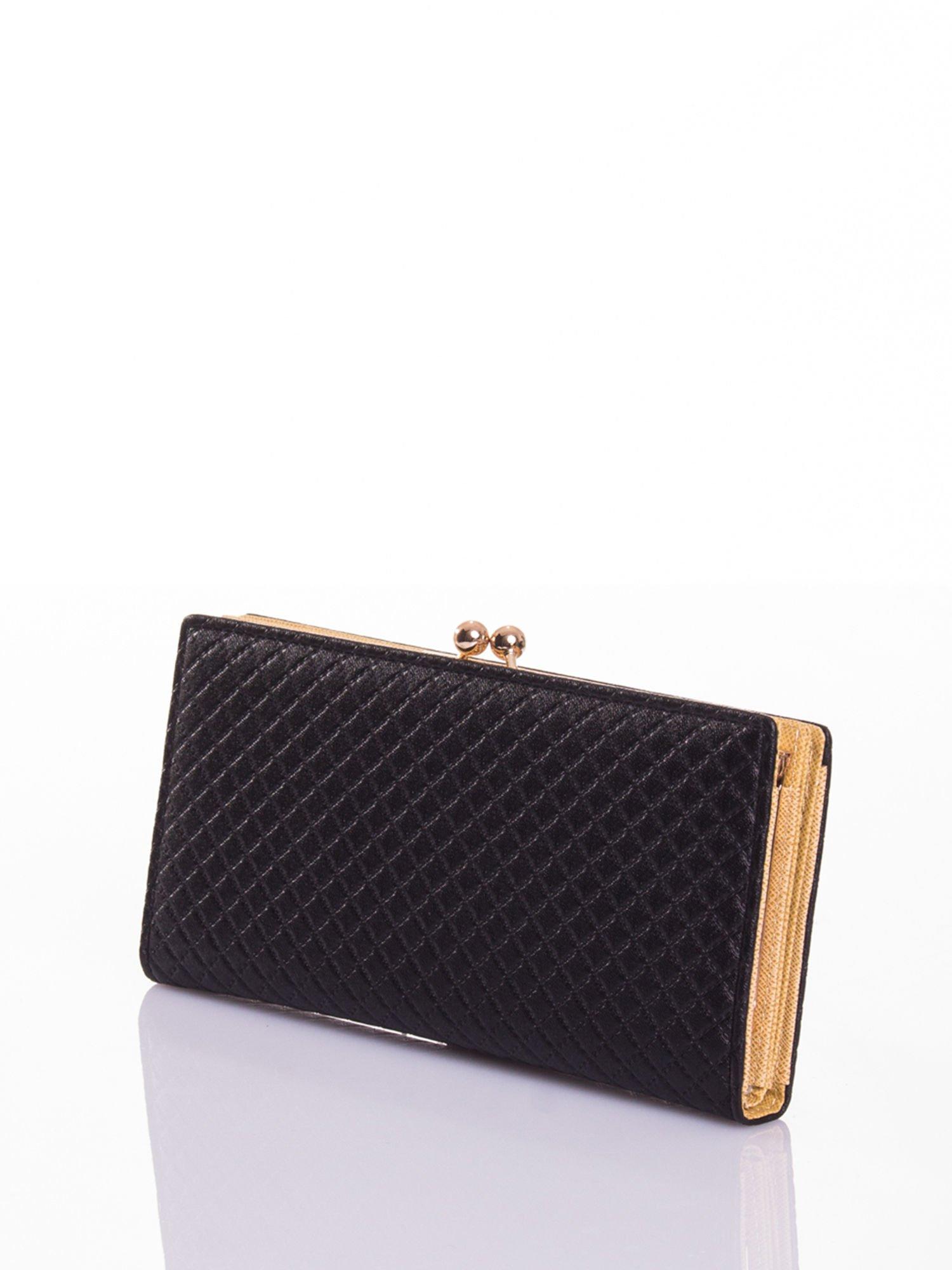 Czarny elegancki portfel na bigiel                                  zdj.                                  2