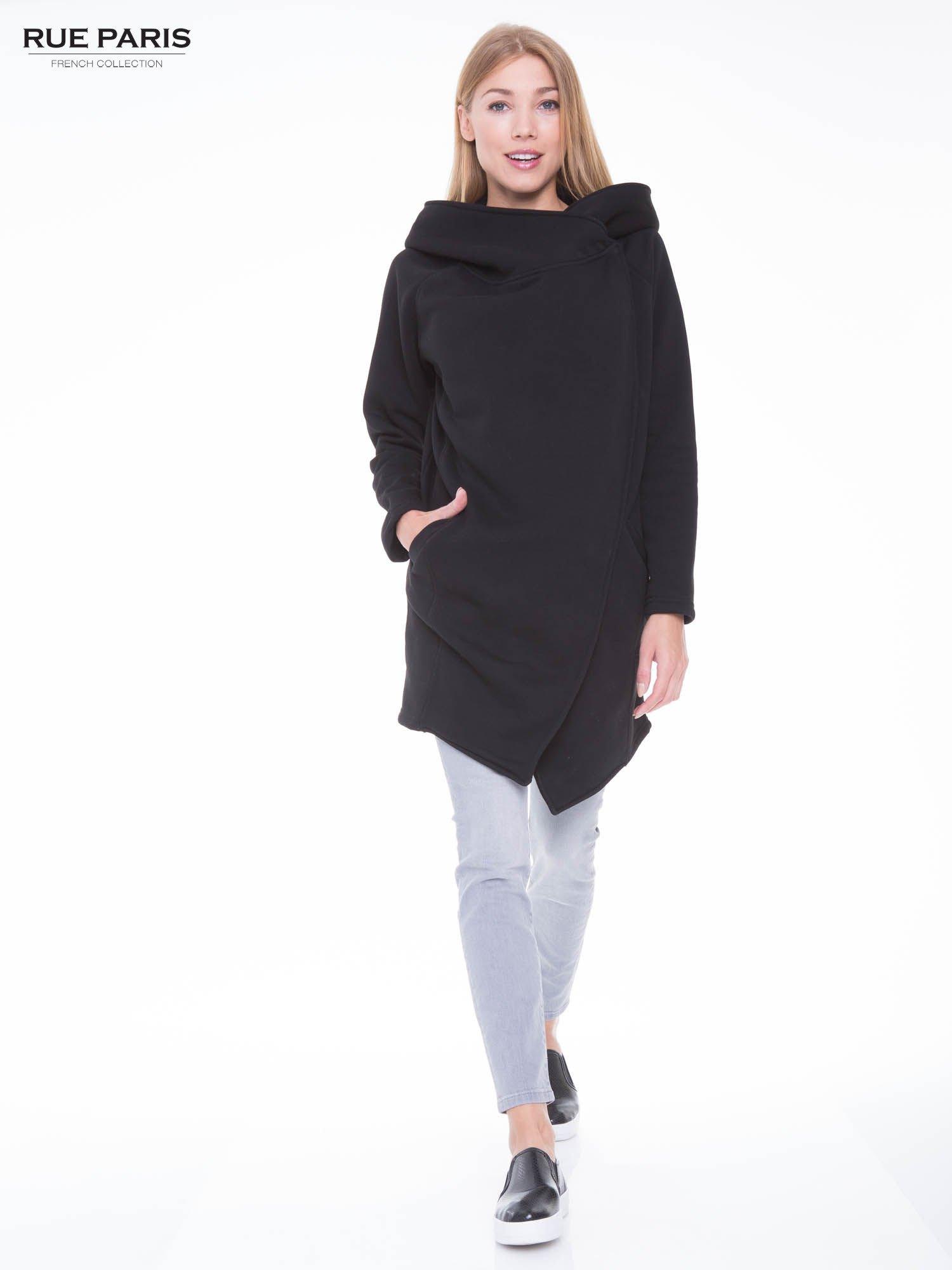 Czarny płaszcz dresowy                                  zdj.                                  4