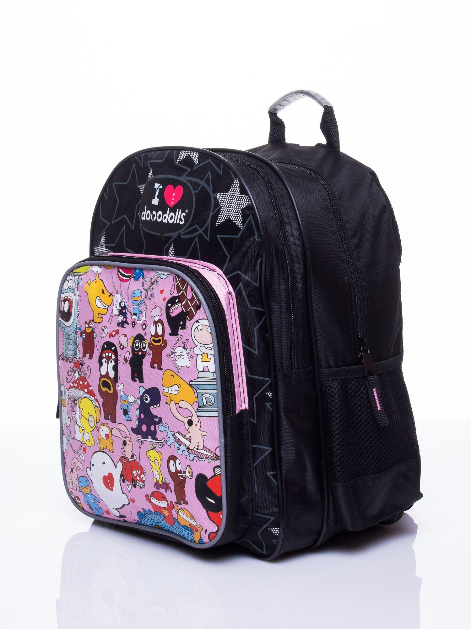 Czarny plecak szkolny DISNEY Dooodolls                                  zdj.                                  2