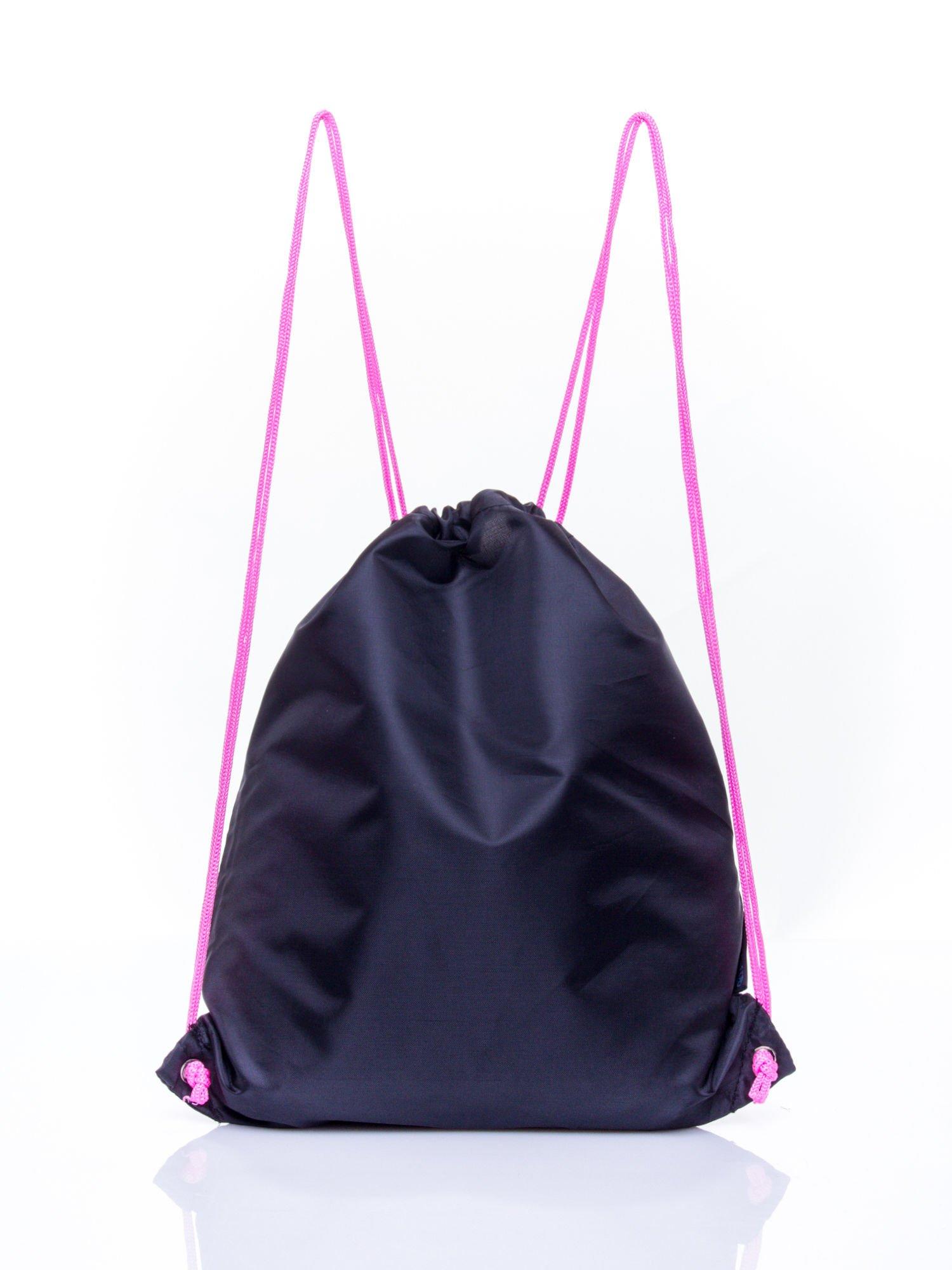 Czarny plecak worek DISNEY Doodolls                                  zdj.                                  2