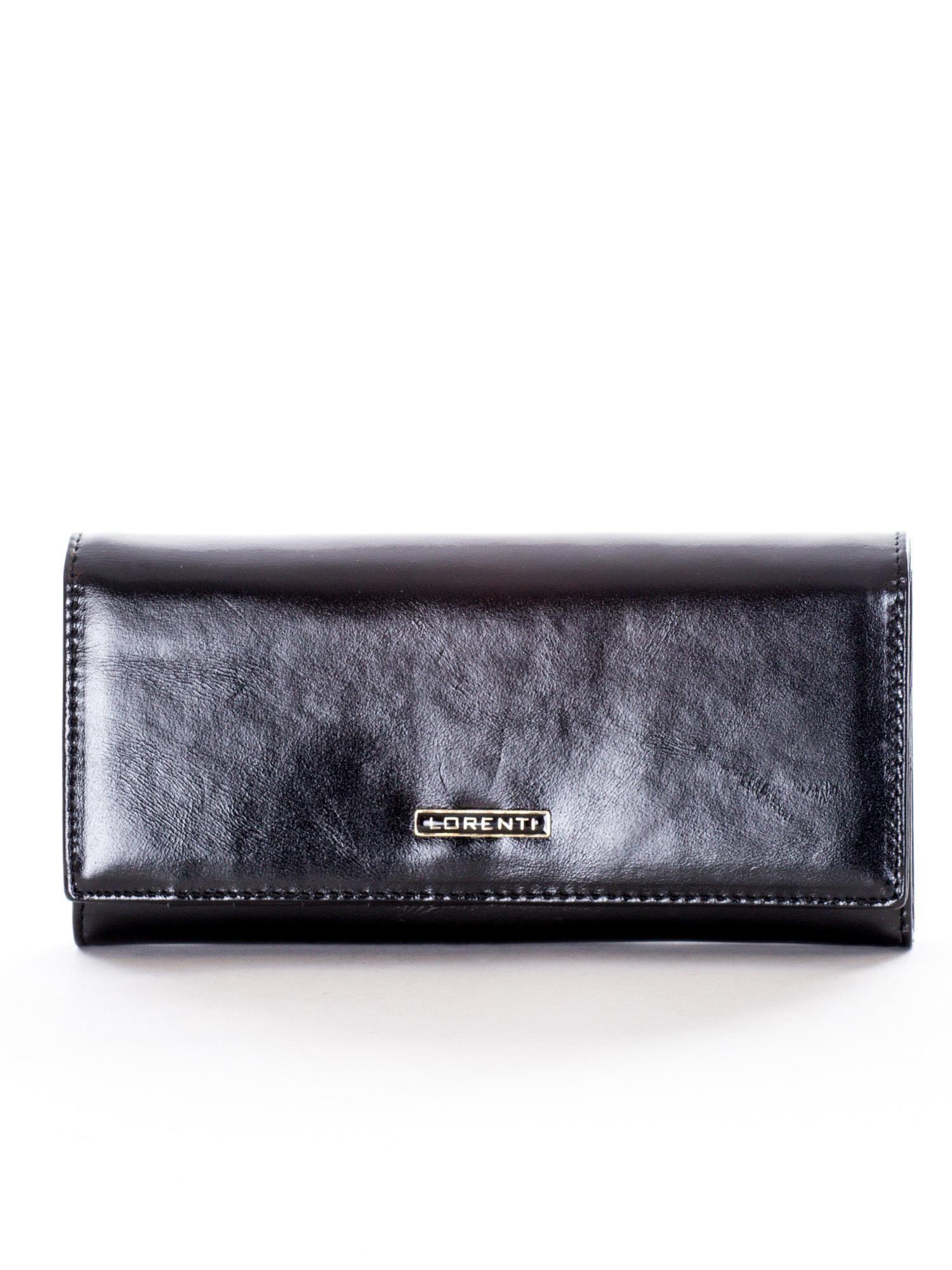 4e83cae7ea5a5 Czarny podłużny portfel skórzany - Akcesoria portfele - sklep eButik.pl