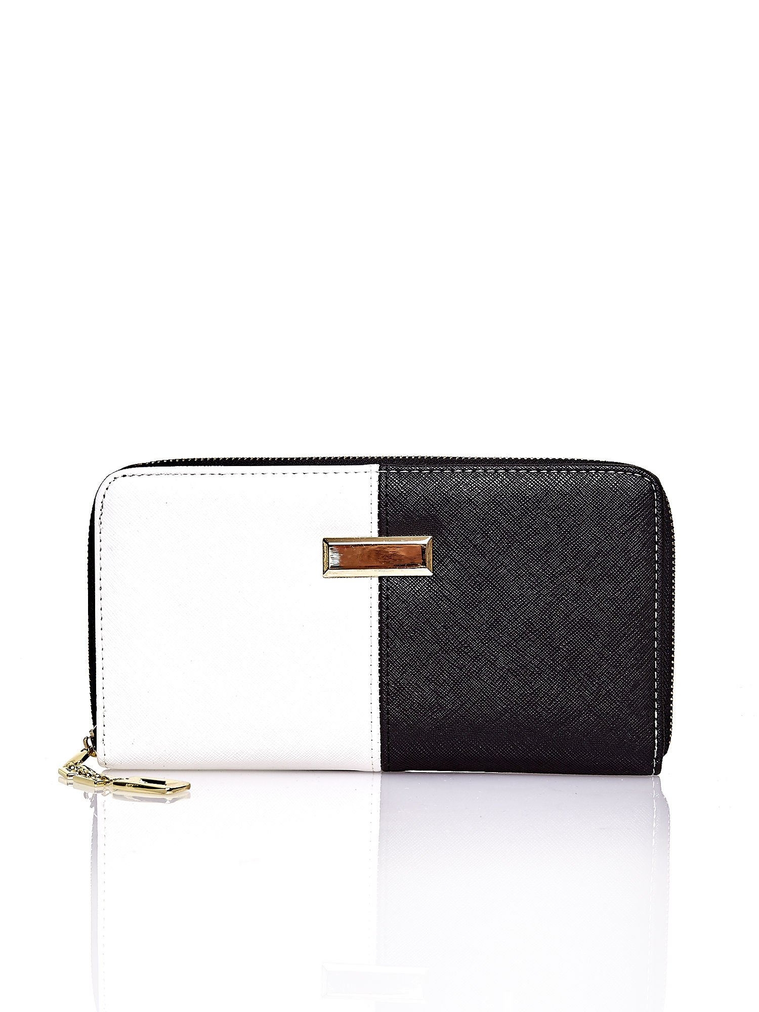 Czarny portfel two tone z uchwytem                                  zdj.                                  1