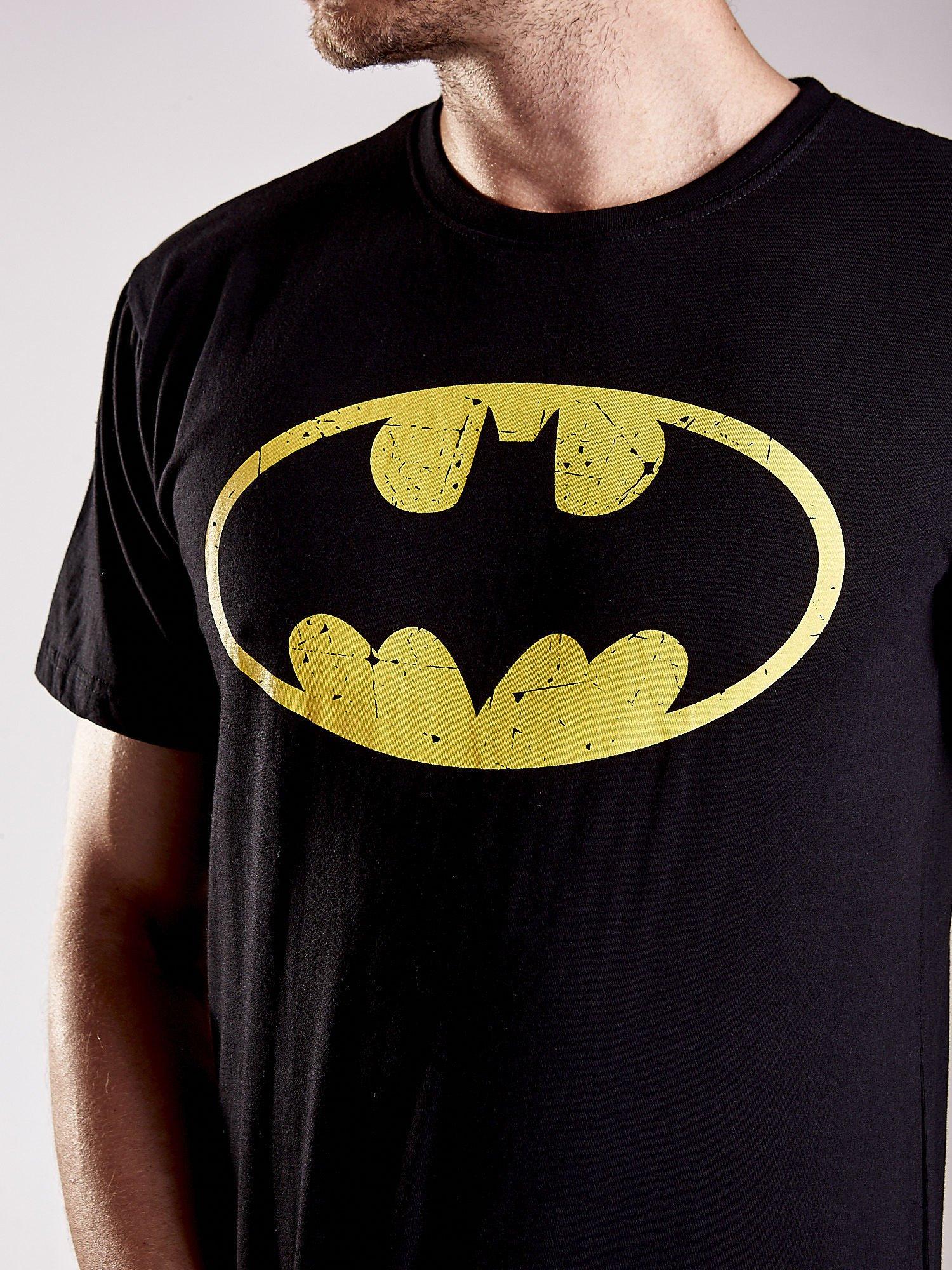 Czarny t-shirt męski BATMAN                                  zdj.                                  7