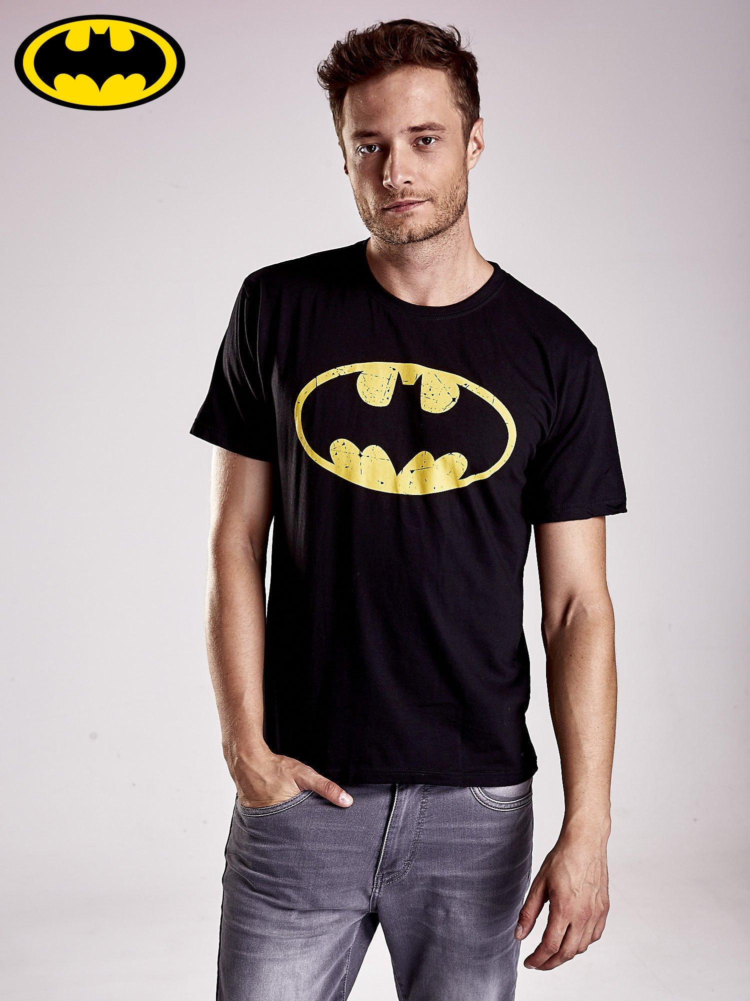 Czarny t-shirt męski BATMAN                                  zdj.                                  2
