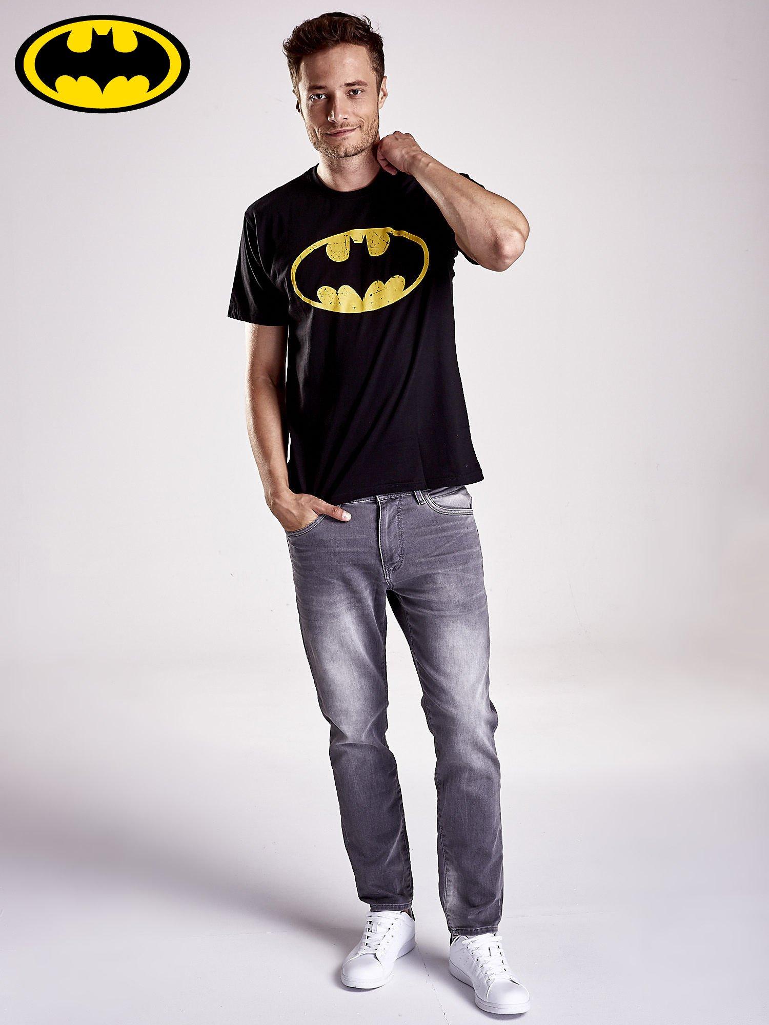 Czarny t-shirt męski BATMAN                                  zdj.                                  3