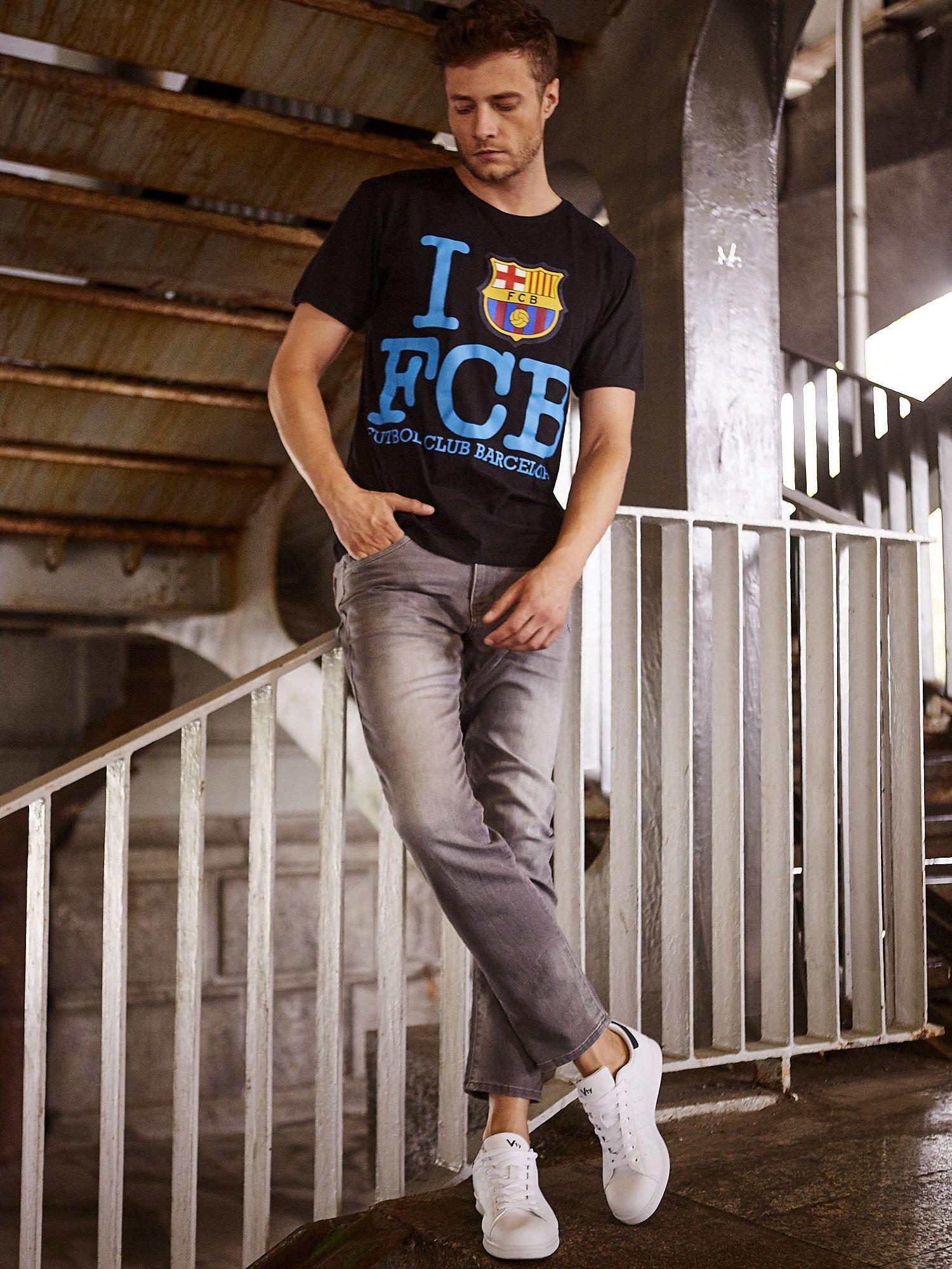 Czarny t-shirt męski FC BARCELONA                                  zdj.                                  14