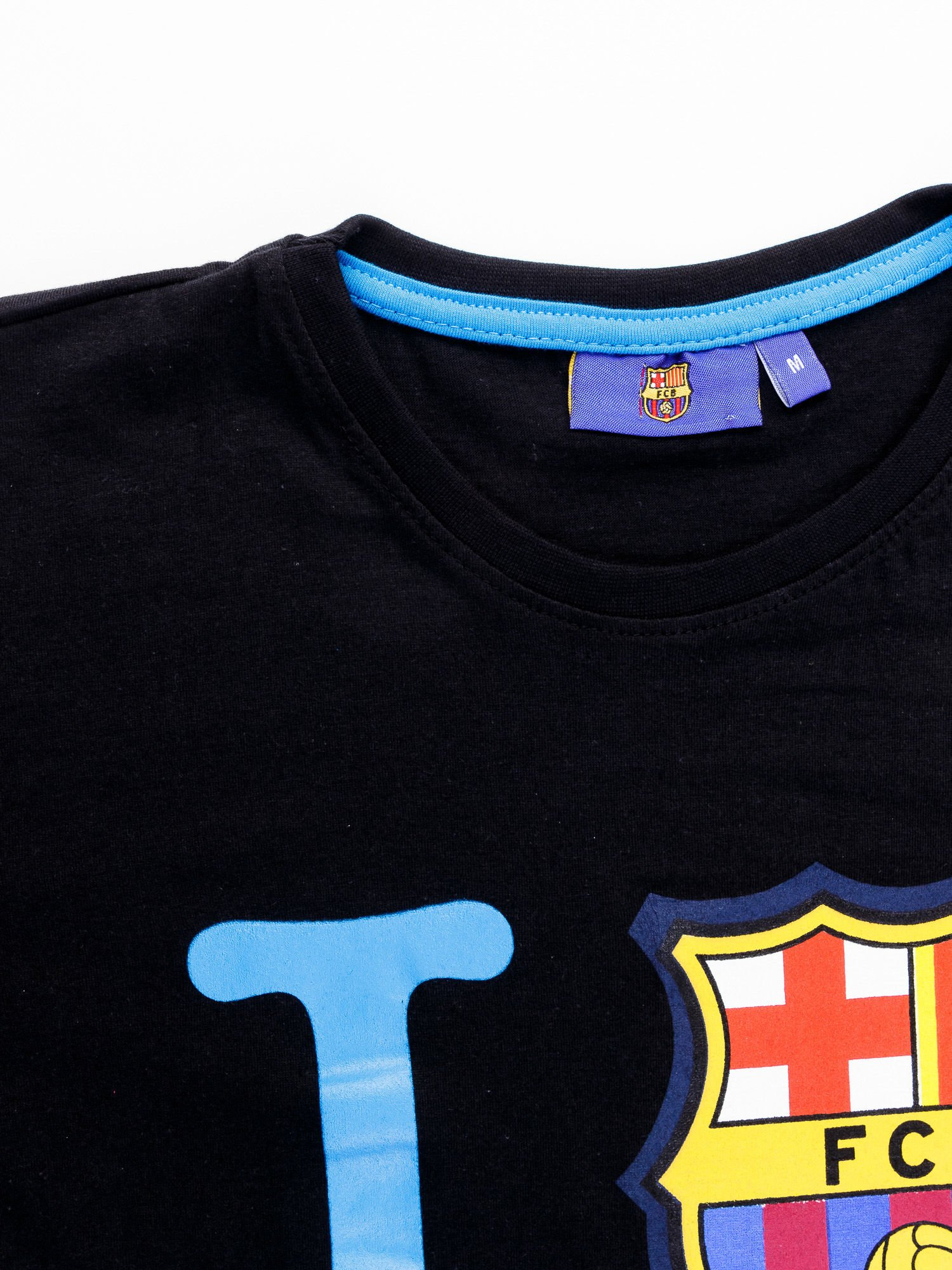 Czarny t-shirt męski FC BARCELONA                                  zdj.                                  12