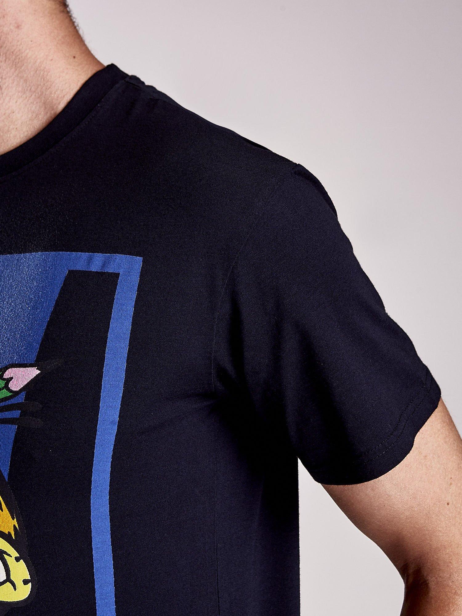 Czarny t-shirt męski GARFIELD                                  zdj.                                  6