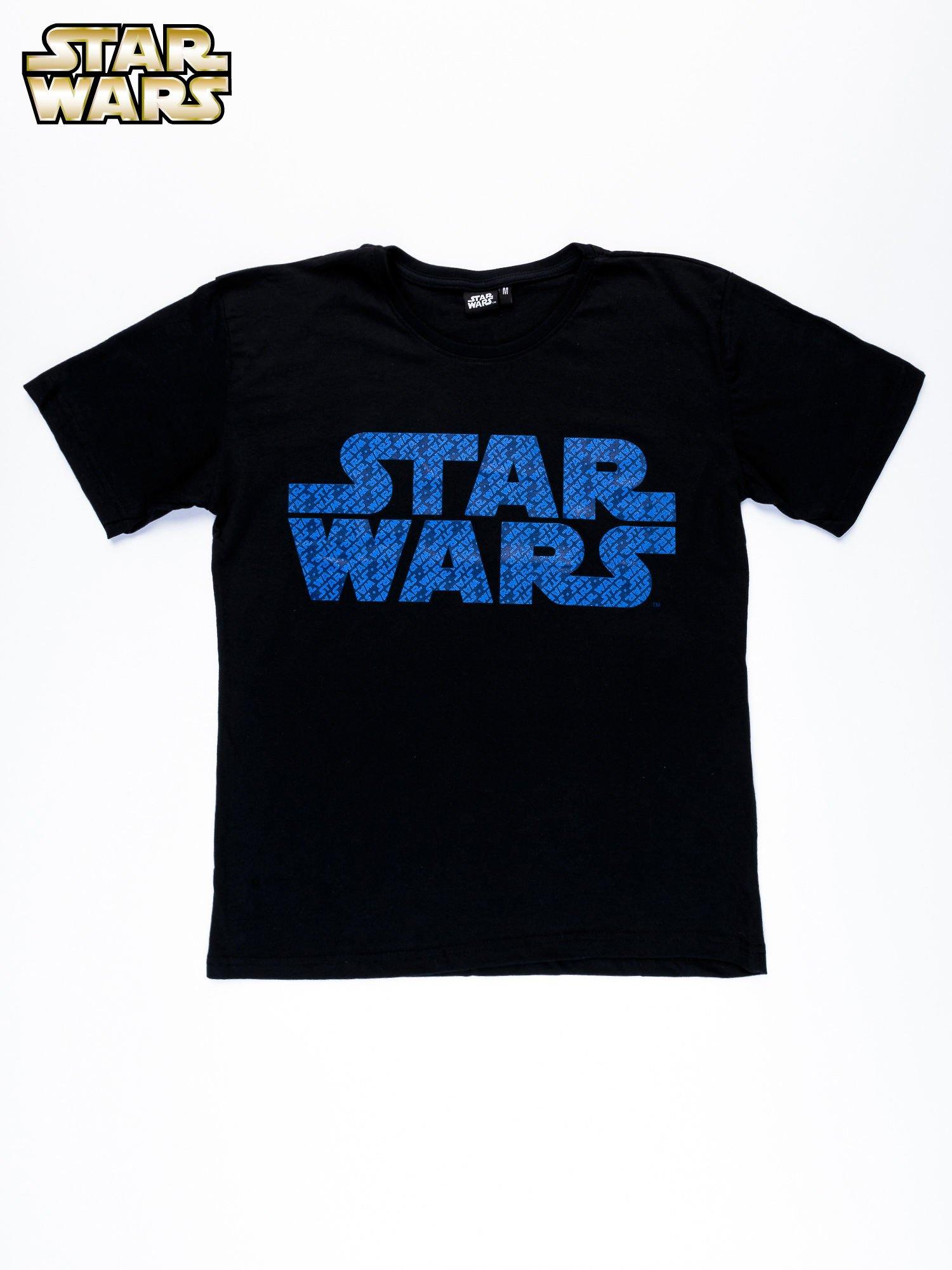 Czarny t-shirt męski z nadrukiem STAR WARS                                  zdj.                                  10
