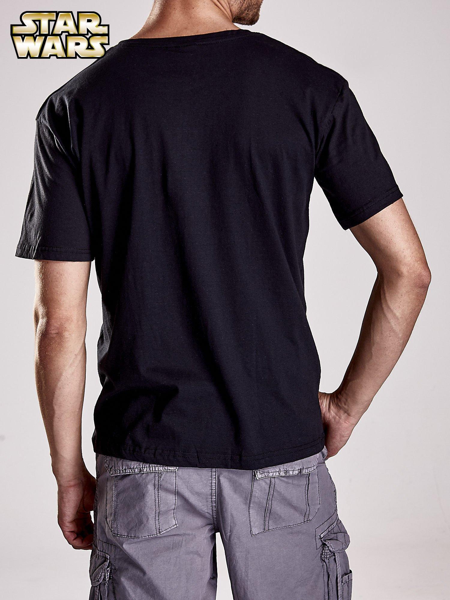 Czarny t-shirt męski z nadrukiem STAR WARS                                  zdj.                                  3