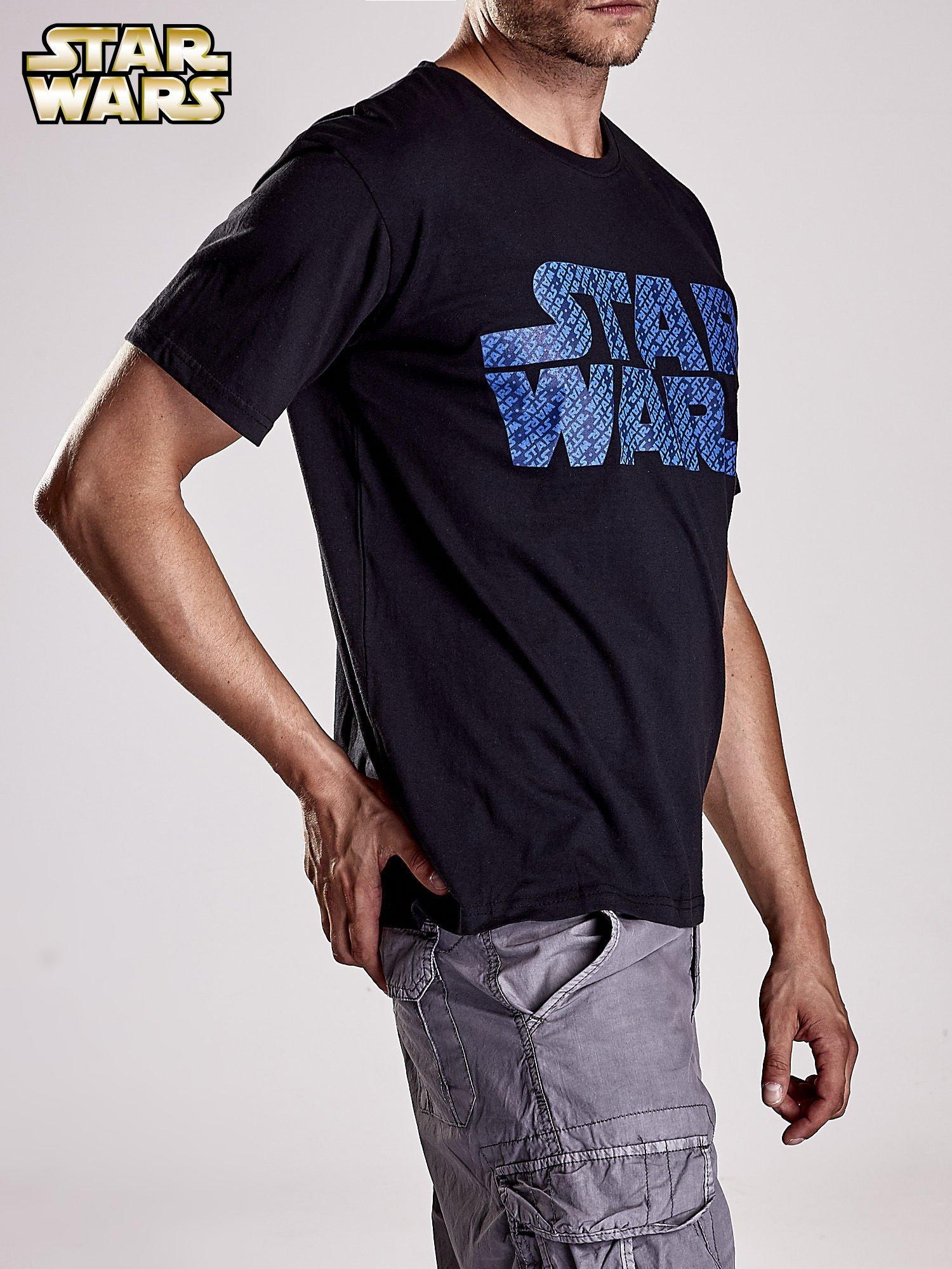 Czarny t-shirt męski z nadrukiem STAR WARS                                  zdj.                                  4