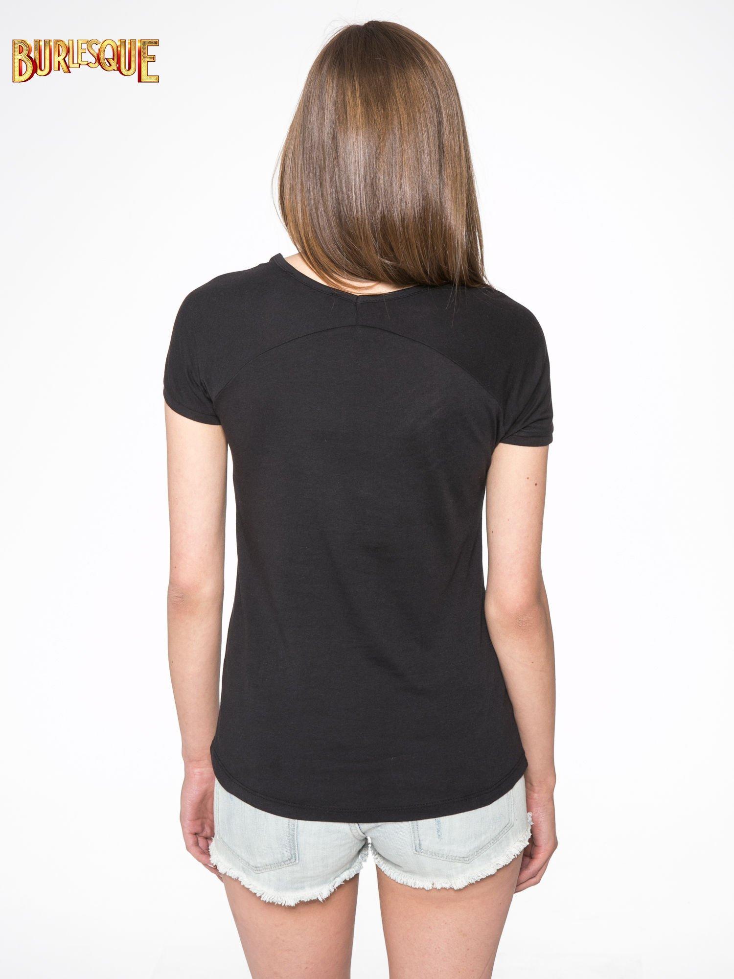 Czarny t-shirt z nadrukiem kwiatowym PRETTY GIRL                                  zdj.                                  4