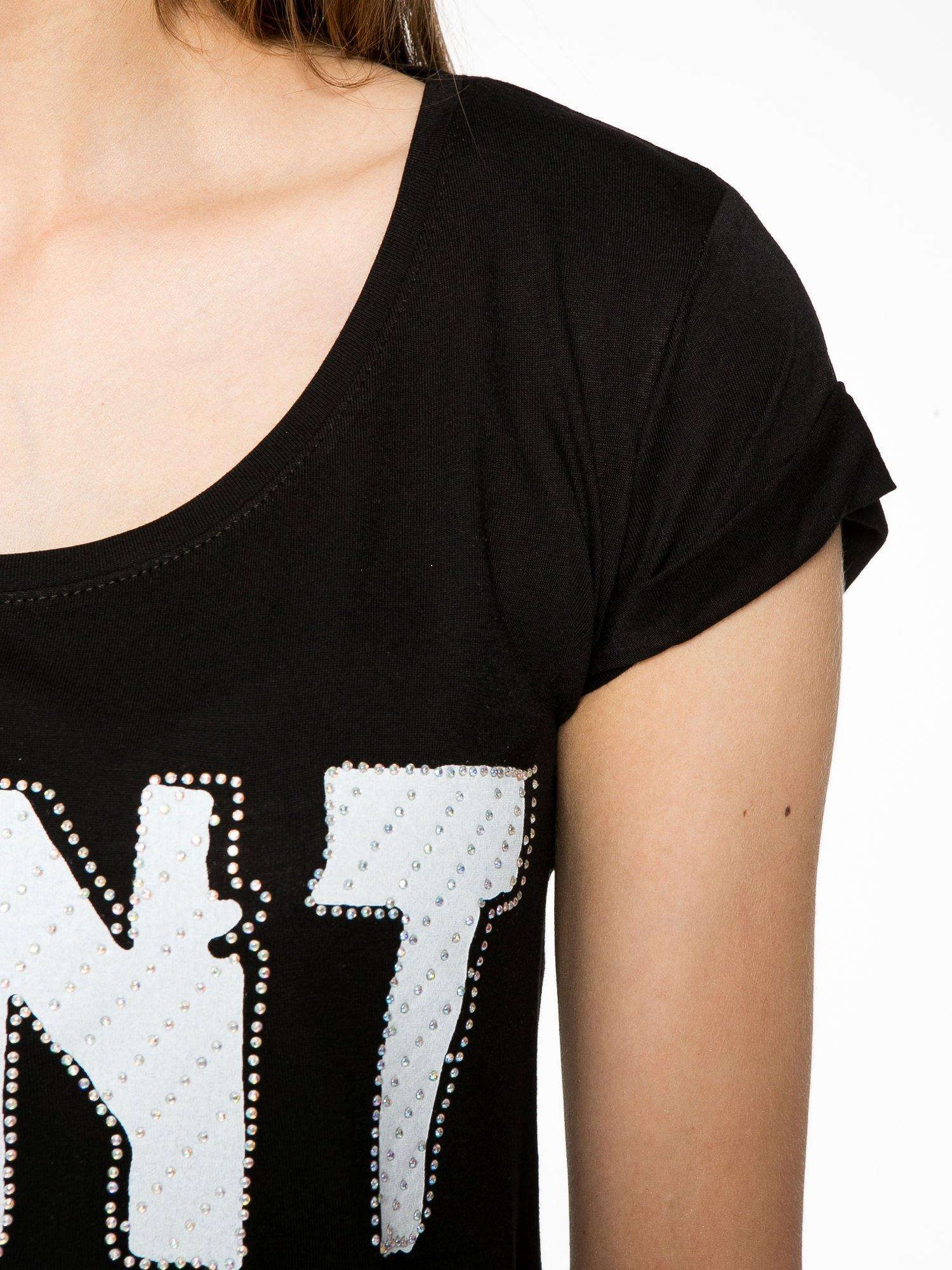 Czarny t-shirt z napisem DON'T WAIT                                  zdj.                                  5