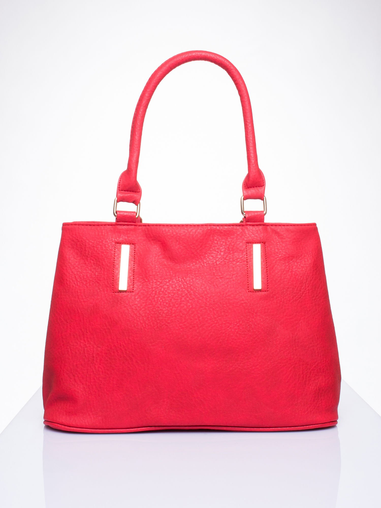Czarwona torba miejska na ramię                                  zdj.                                  2