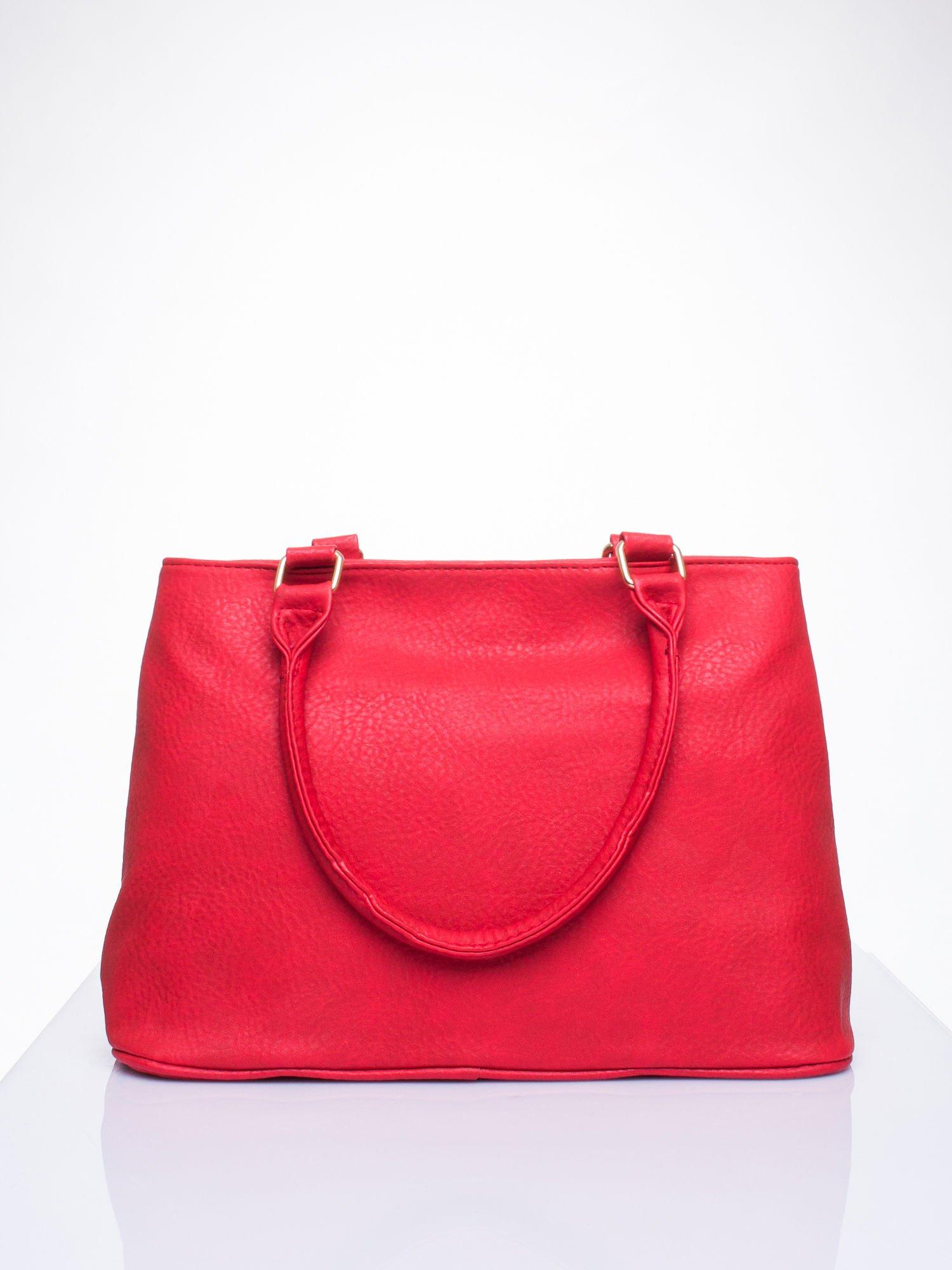 Czarwona torba miejska na ramię                                  zdj.                                  4