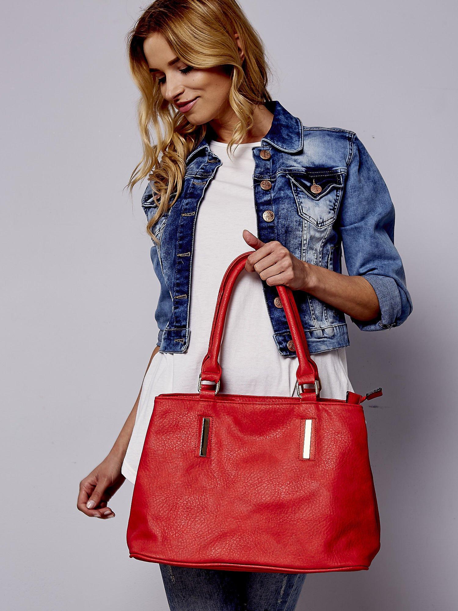 Czarwona torba miejska na ramię                                  zdj.                                  1