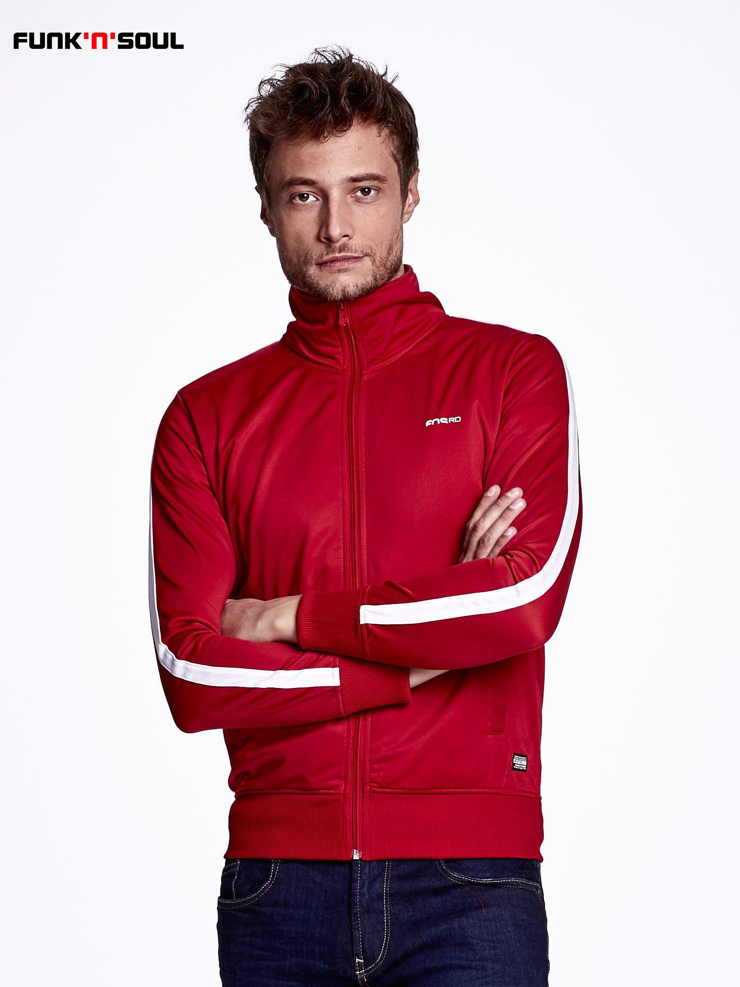 Czerwona bluza męska ze stójką FUNK N SOUL                                  zdj.                                  1