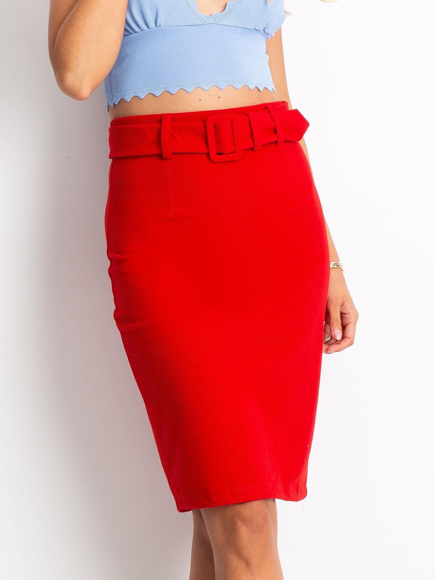 Bordowa ołówkowa spódnica plus size spódniczka L XL 42