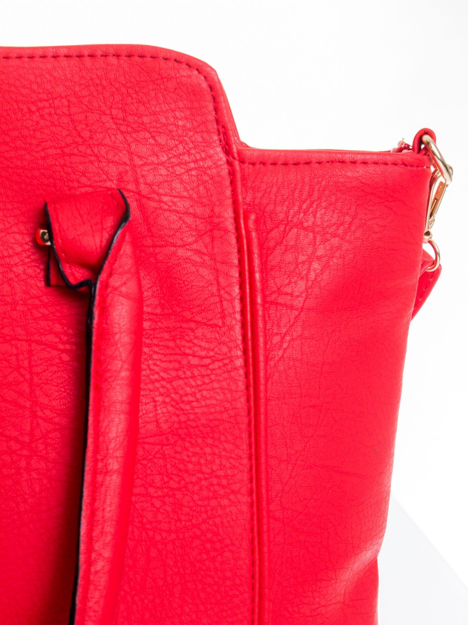 Czerwona torba shopper bag                                  zdj.                                  7