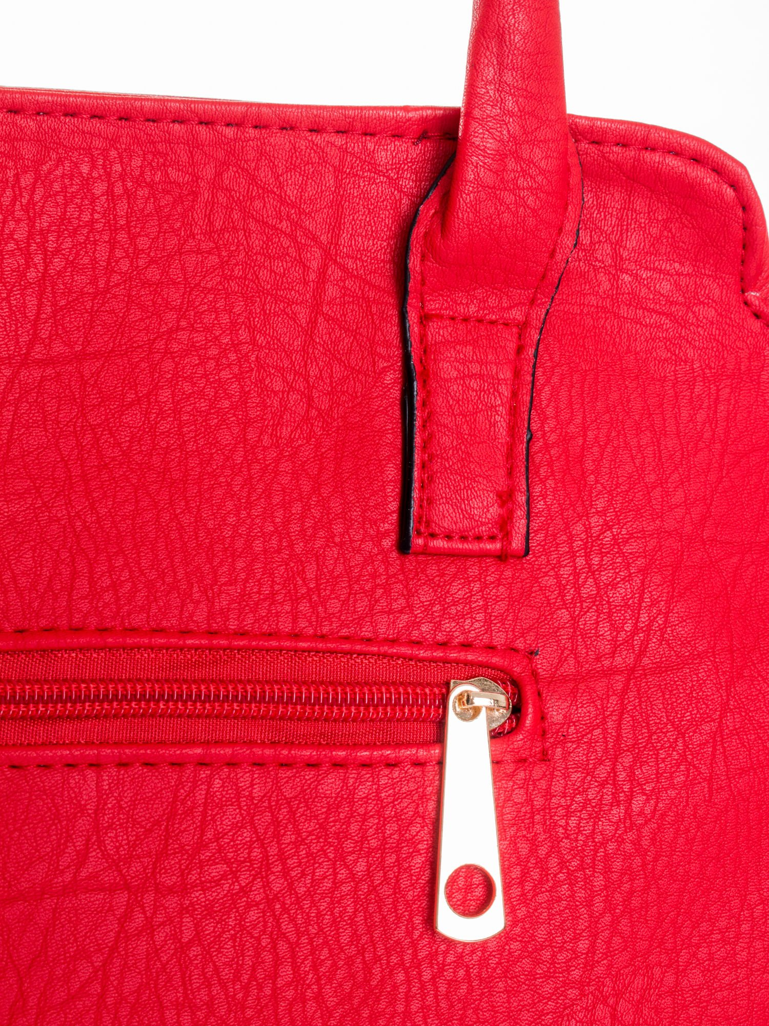 Czerwona torba shopper bag                                  zdj.                                  8