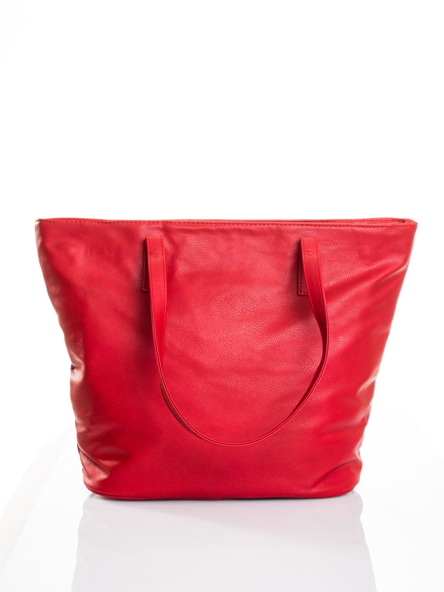 Czerwona torba ze złotym detalem                                  zdj.                                  3