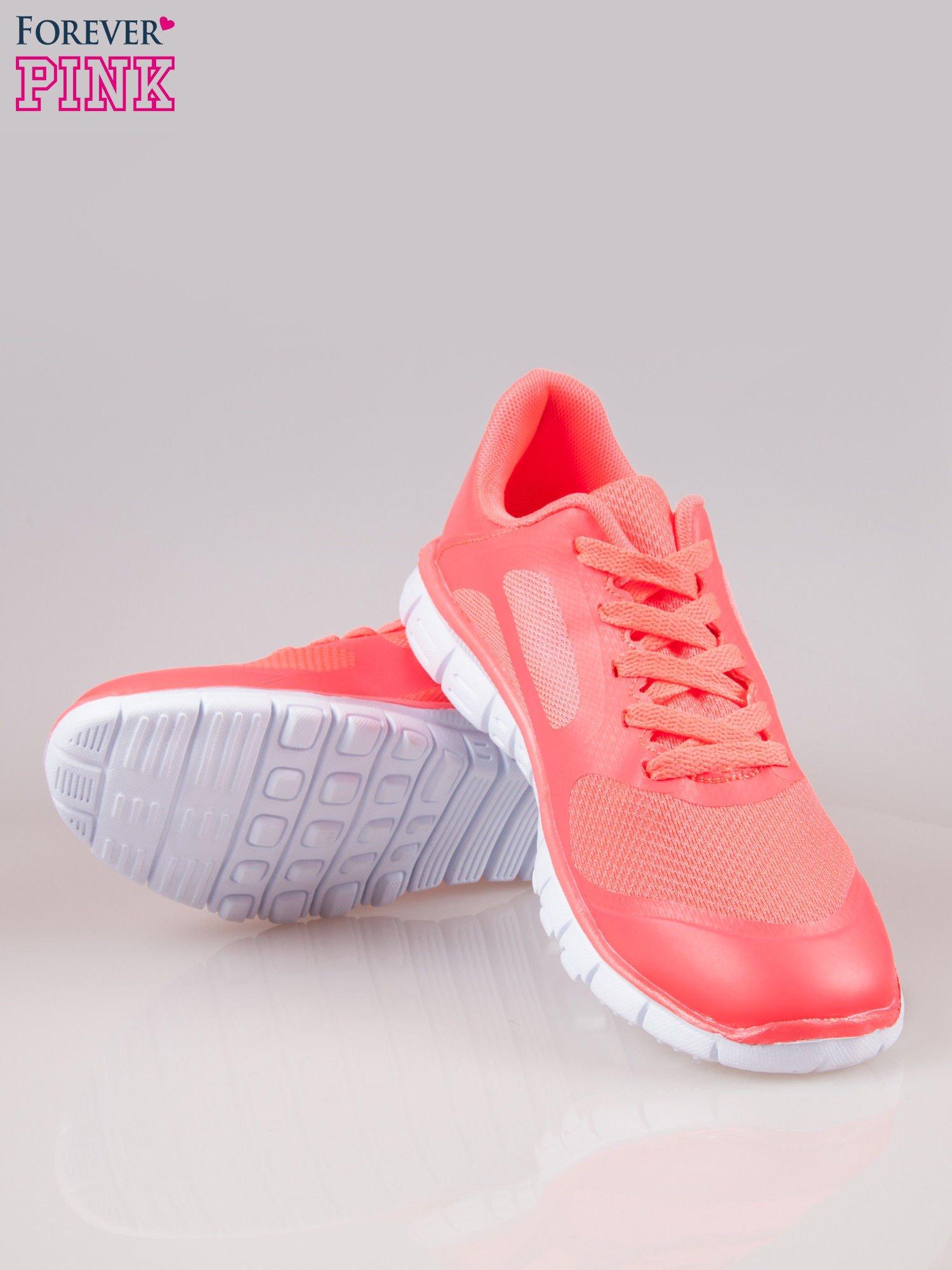 Czerwone buty sportowe eco leather Fruity z podeszwą z rowkami flex                                  zdj.                                  4