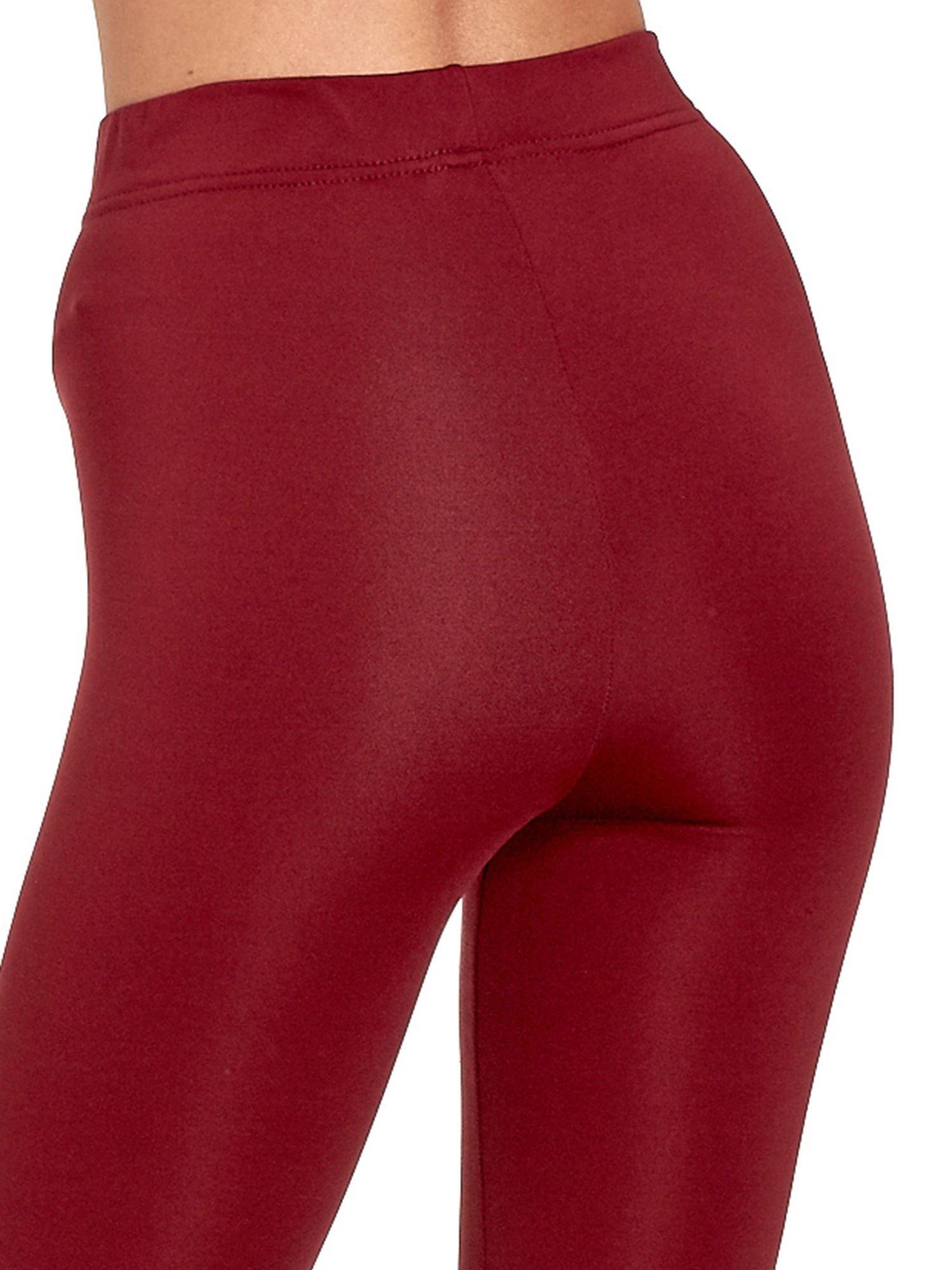 Czerwone legginsy basic z lekkim ociepleniem                                  zdj.                                  7