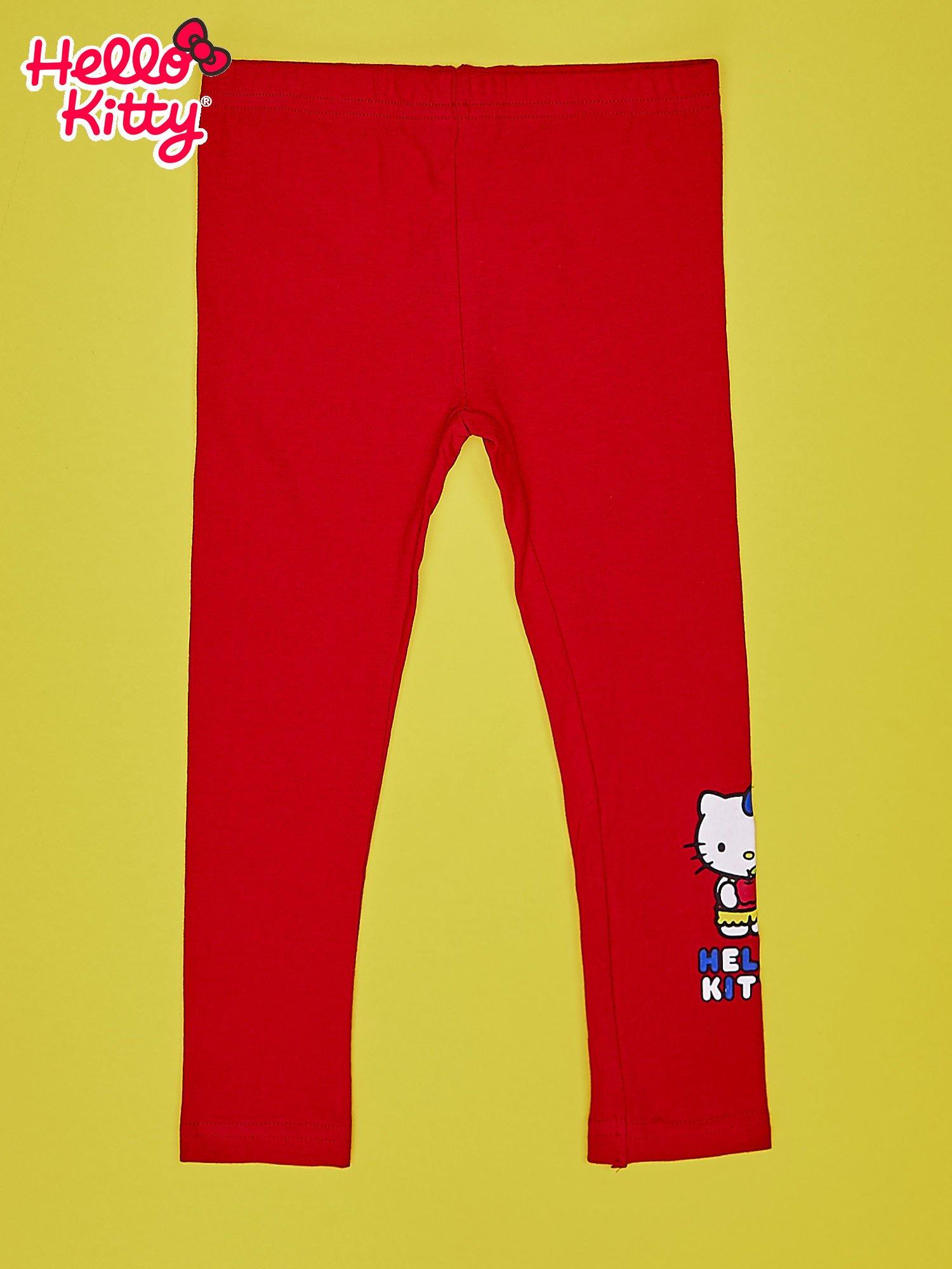 Czerwone legginsy dla dziewczynki HELLO KITTY                                  zdj.                                  1