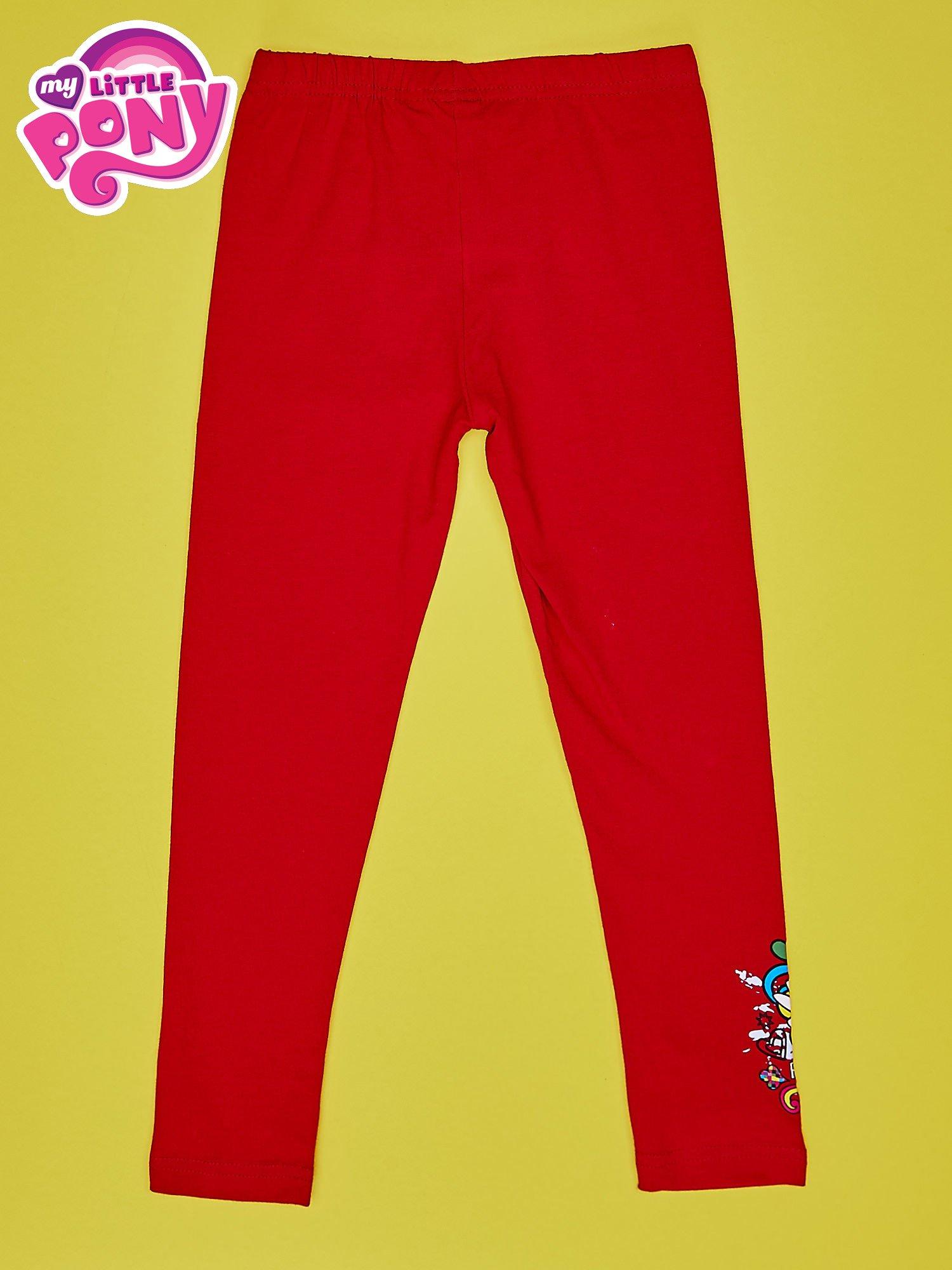 Czerwone legginsy dla dziewczynki z motywem MY LITTLE PONY                                  zdj.                                  2