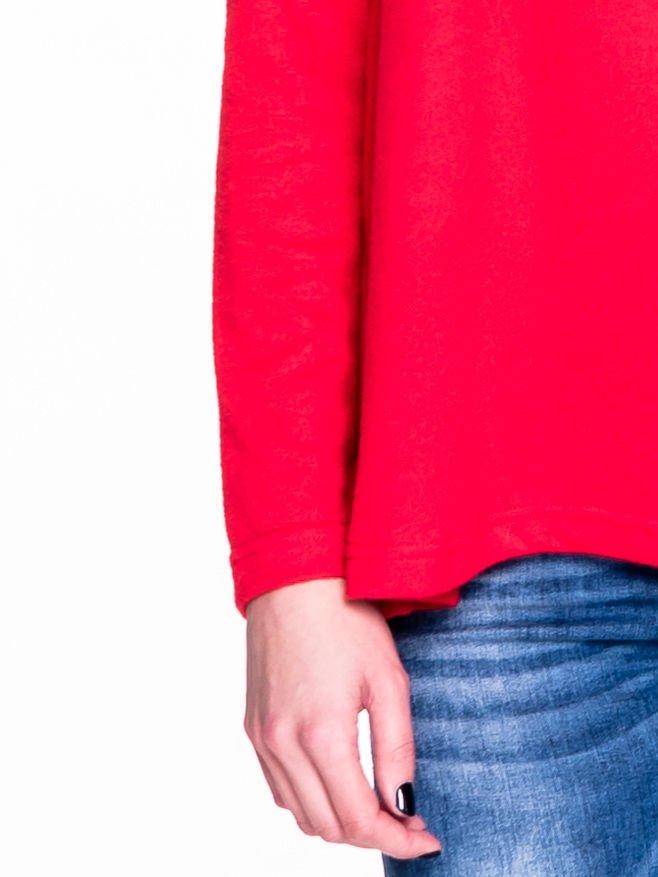 Czerwony klasyczny sweterek                                  zdj.                                  6