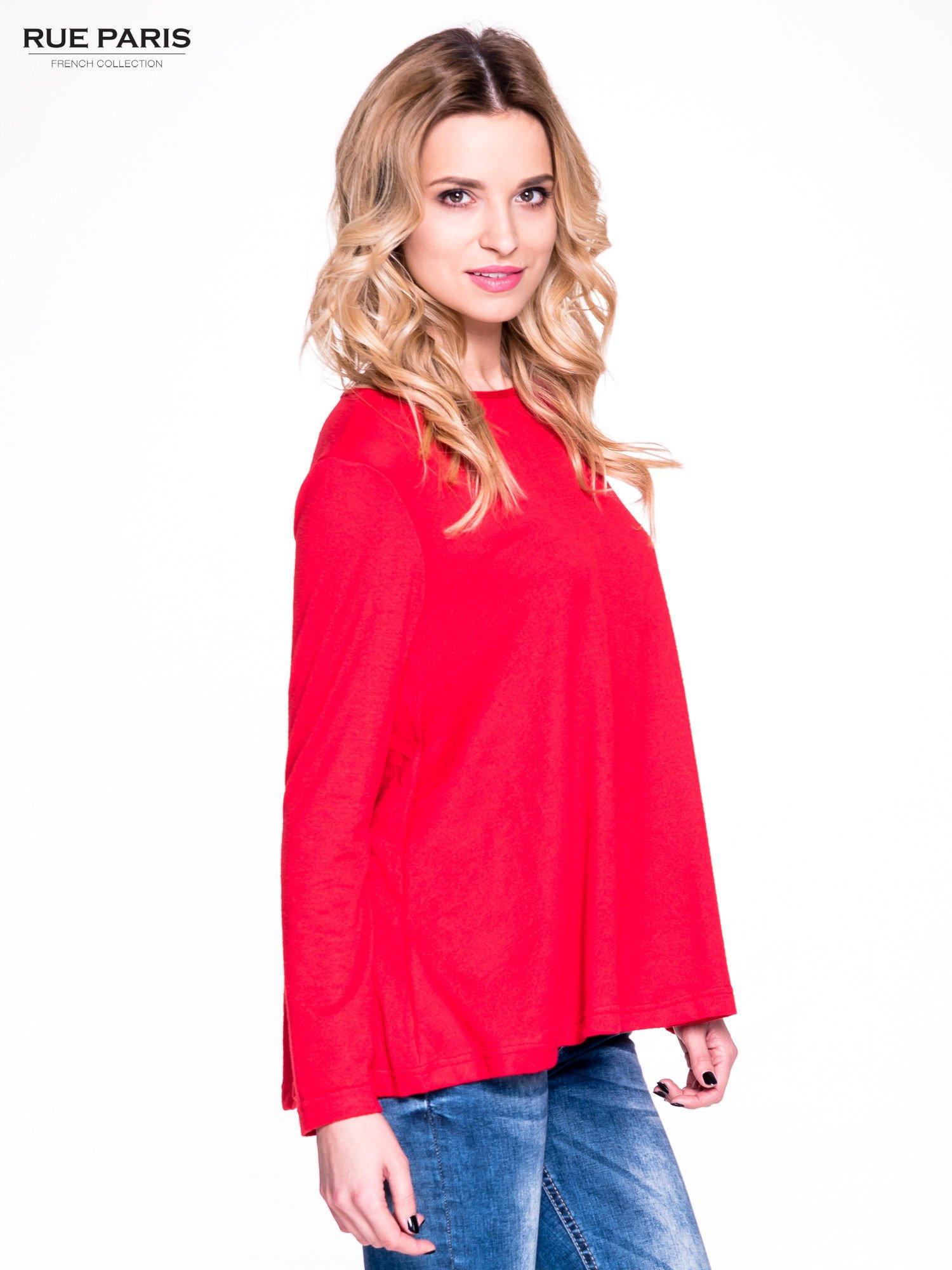 Czerwony klasyczny sweterek                                  zdj.                                  3