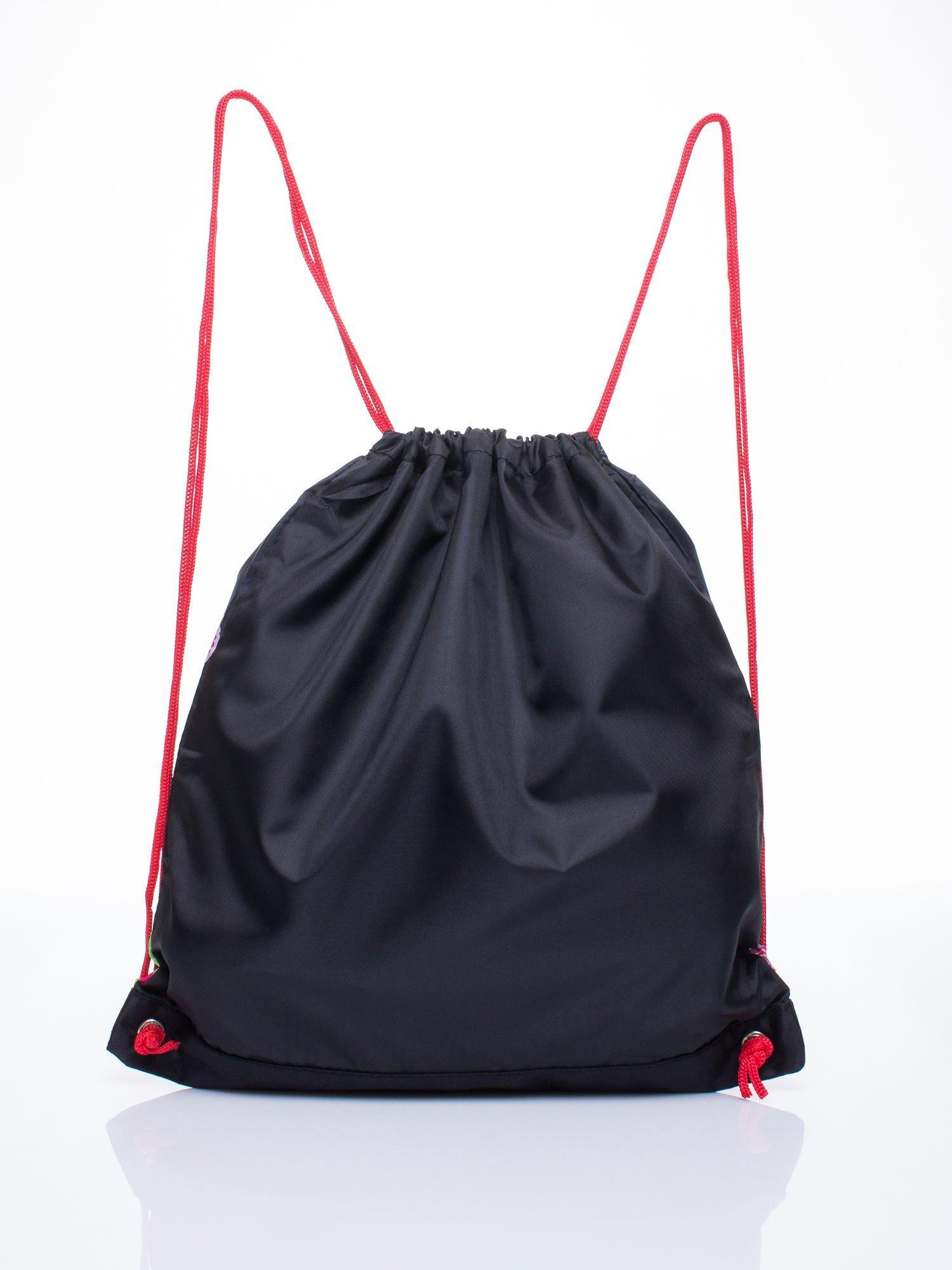 Czerwony plecak worek DISNEY z dziewczyną