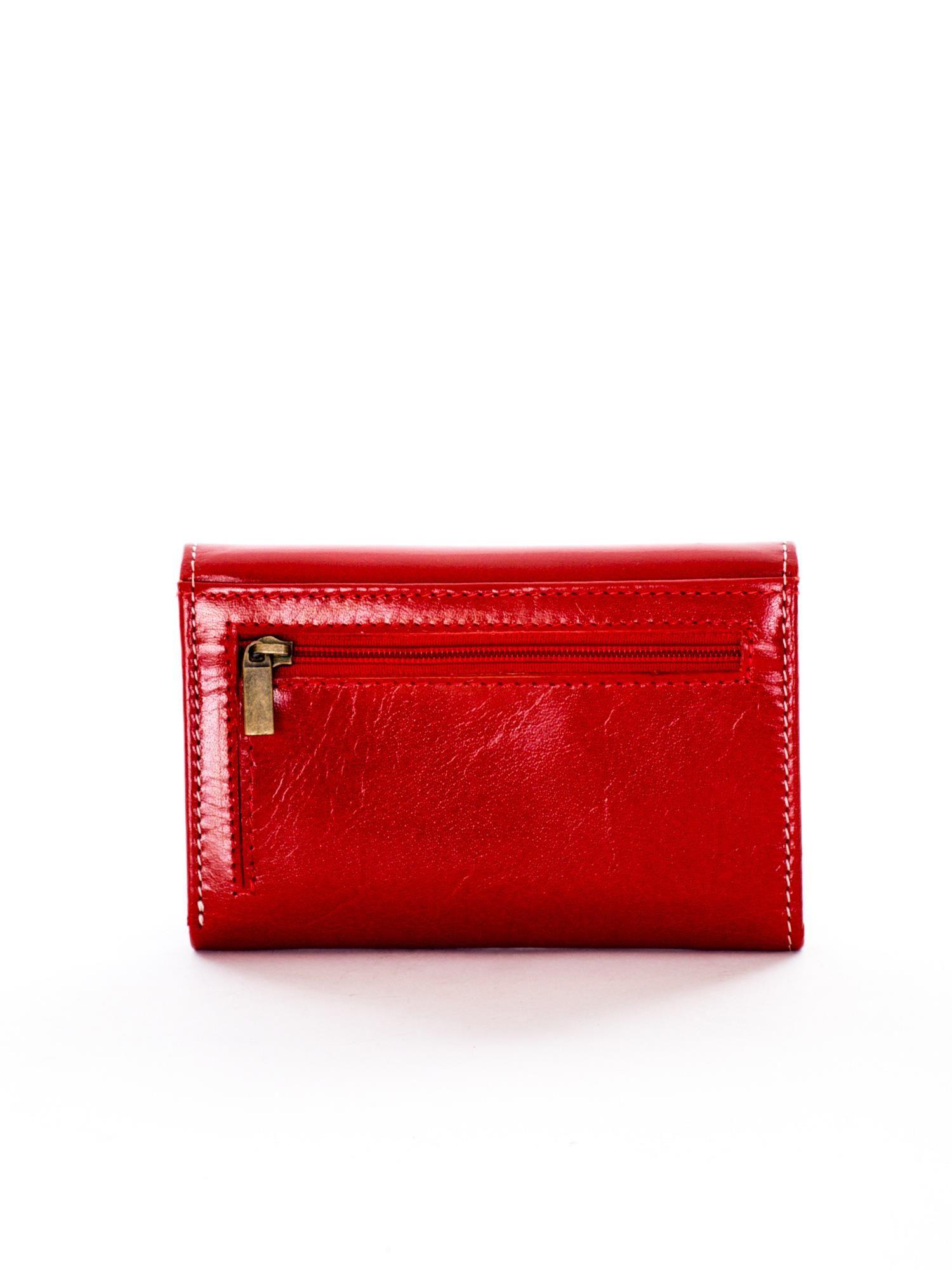 9a0f6d7a6fe19 Czerwony portfel skórzany damski - Akcesoria portfele - sklep eButik.pl