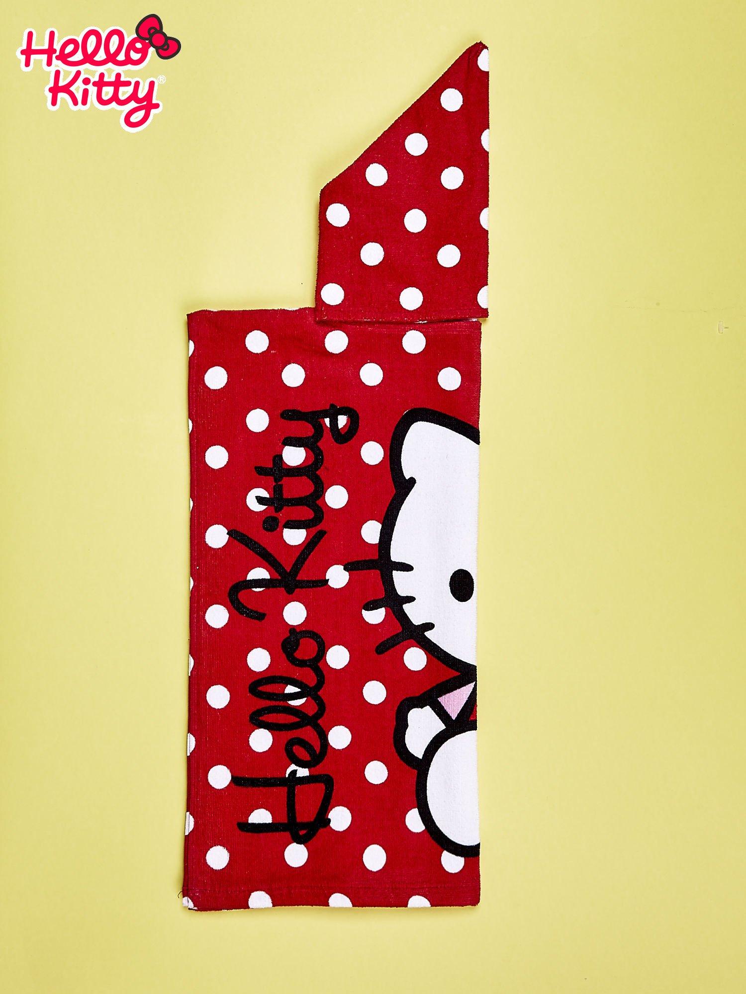 Czerwony szlafrok dla dziewczynki HELLO KITTY                                  zdj.                                  3