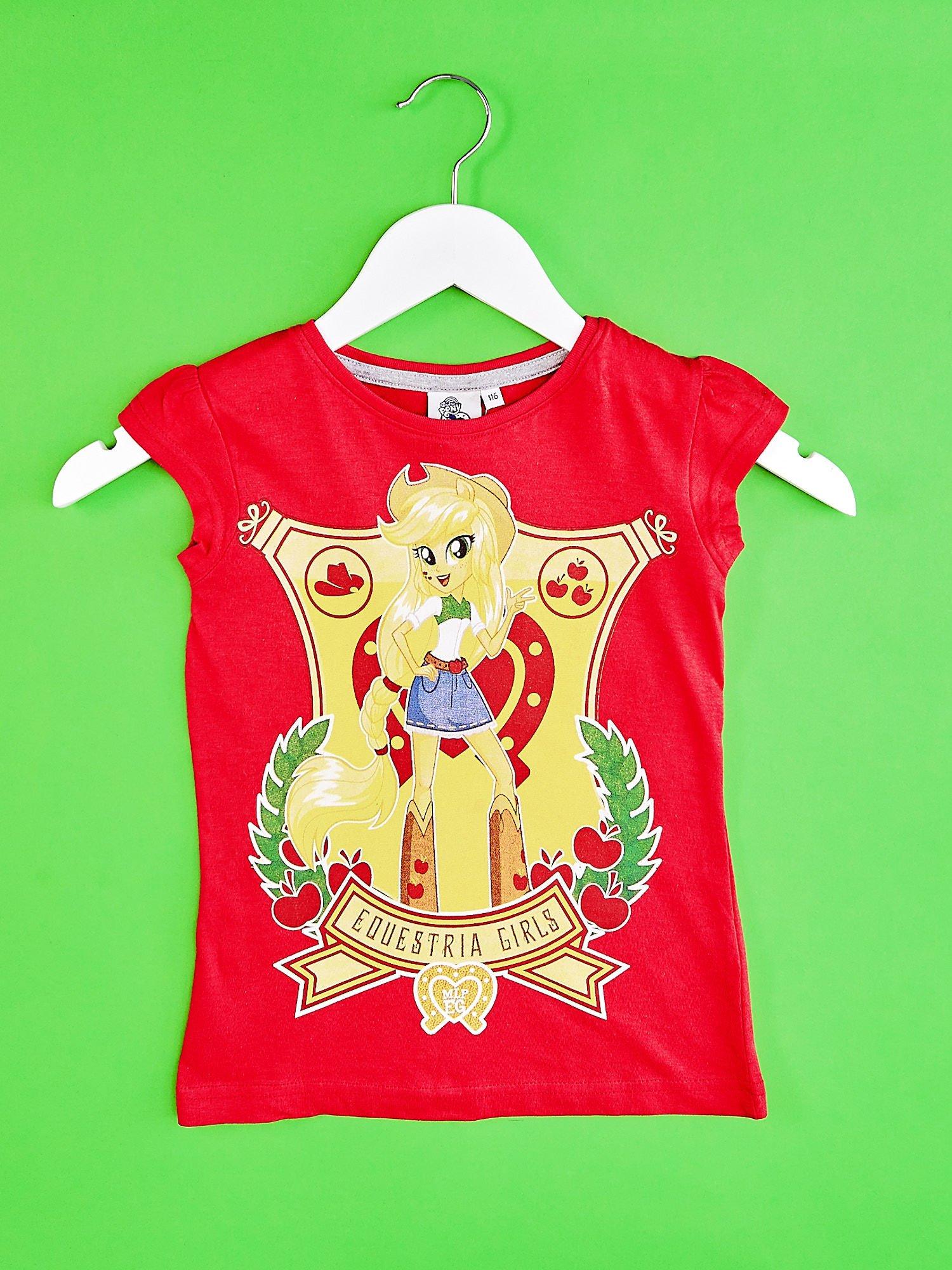 Czerwony t-shirt dla dziewczynki EQUESTRIA GIRLS                                  zdj.                                  1