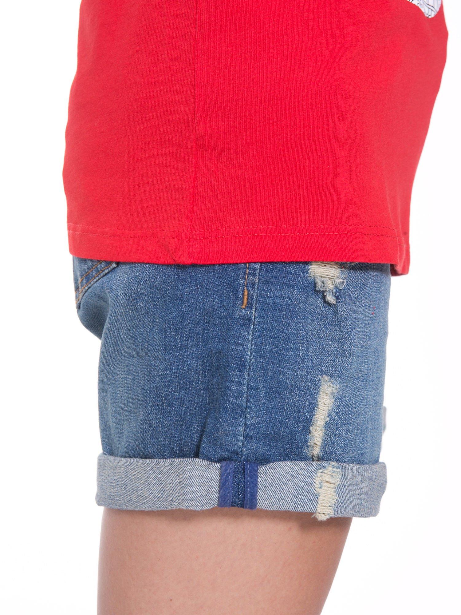 Czerwony t-shirt z nadukiem DUDE z przodu i na plecach                                  zdj.                                  10