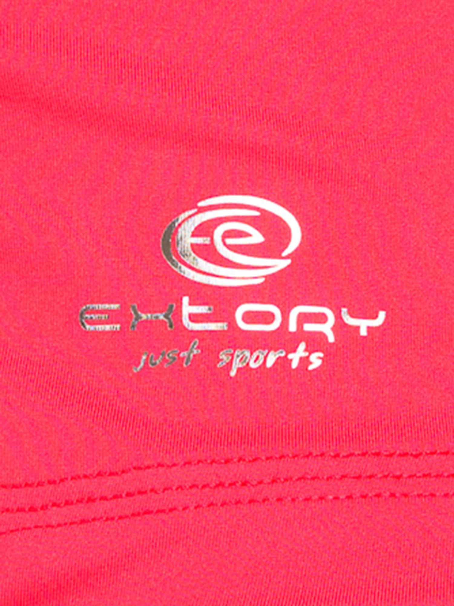 Czerwony top sportowy z dekoltem V                                  zdj.                                  5