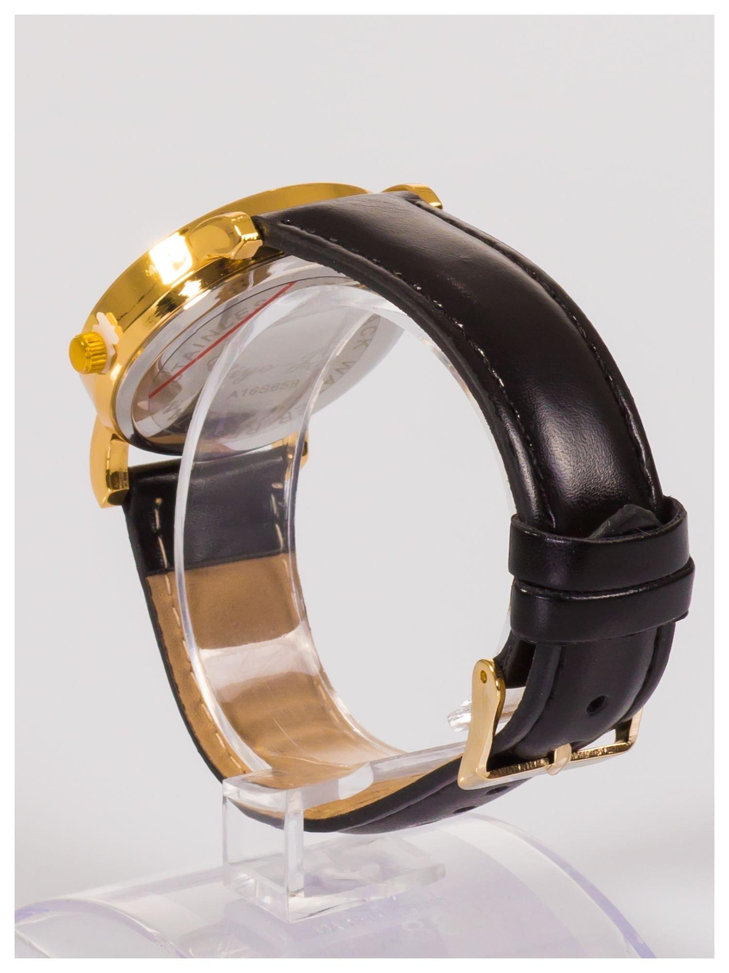 Damski zegarek z cyrkoniami z motywem wieży Eiffla na tarczy                                  zdj.                                  4