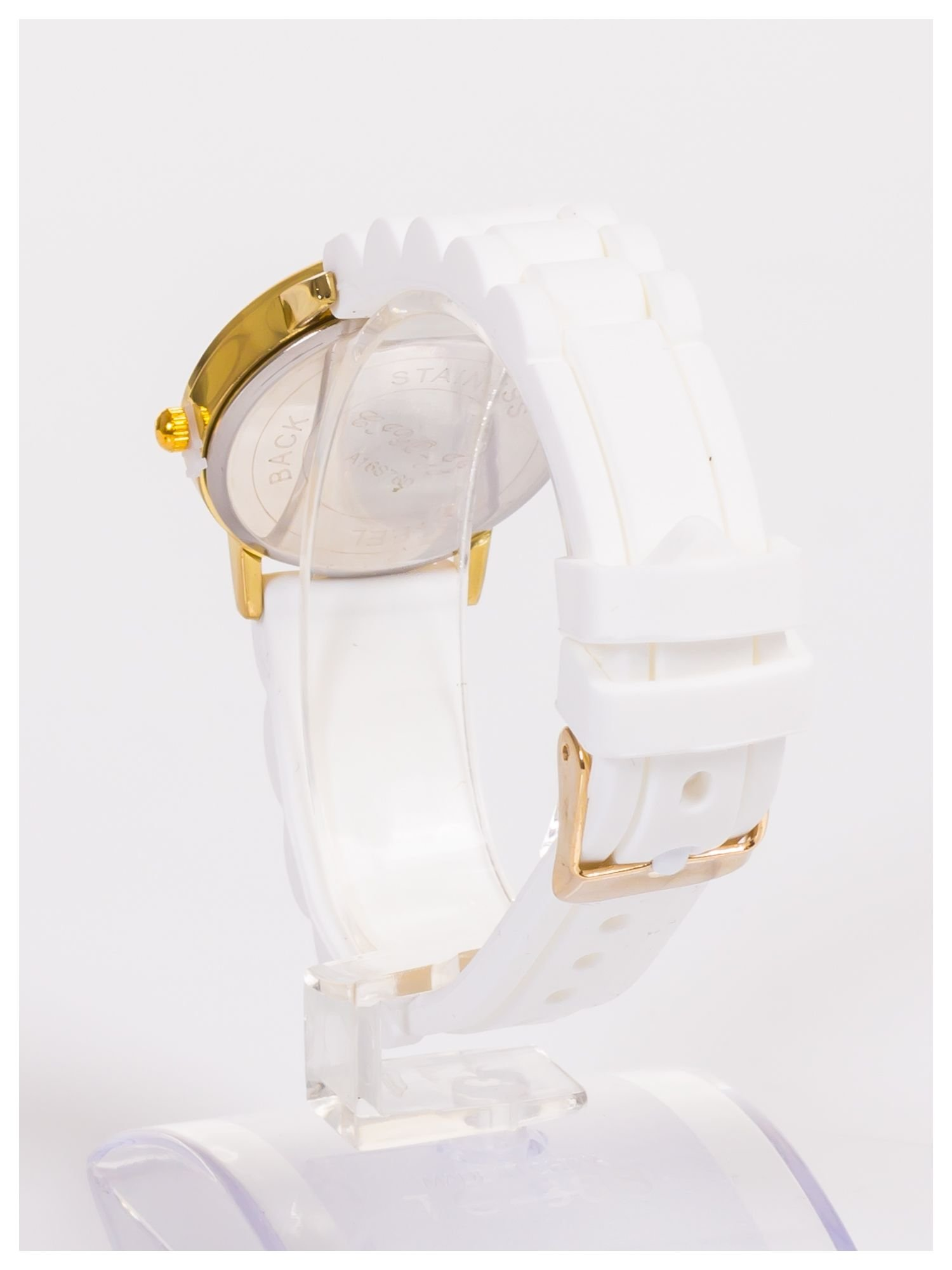 Damski zegarek z ozdobnym chronografem na tarczy                                  zdj.                                  4