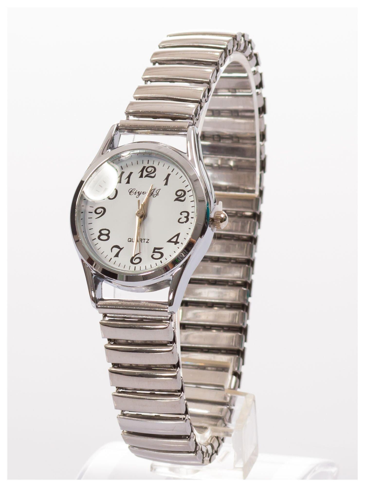 Delikatny damski zegarek na elastycznej bransolecie                                  zdj.                                  2