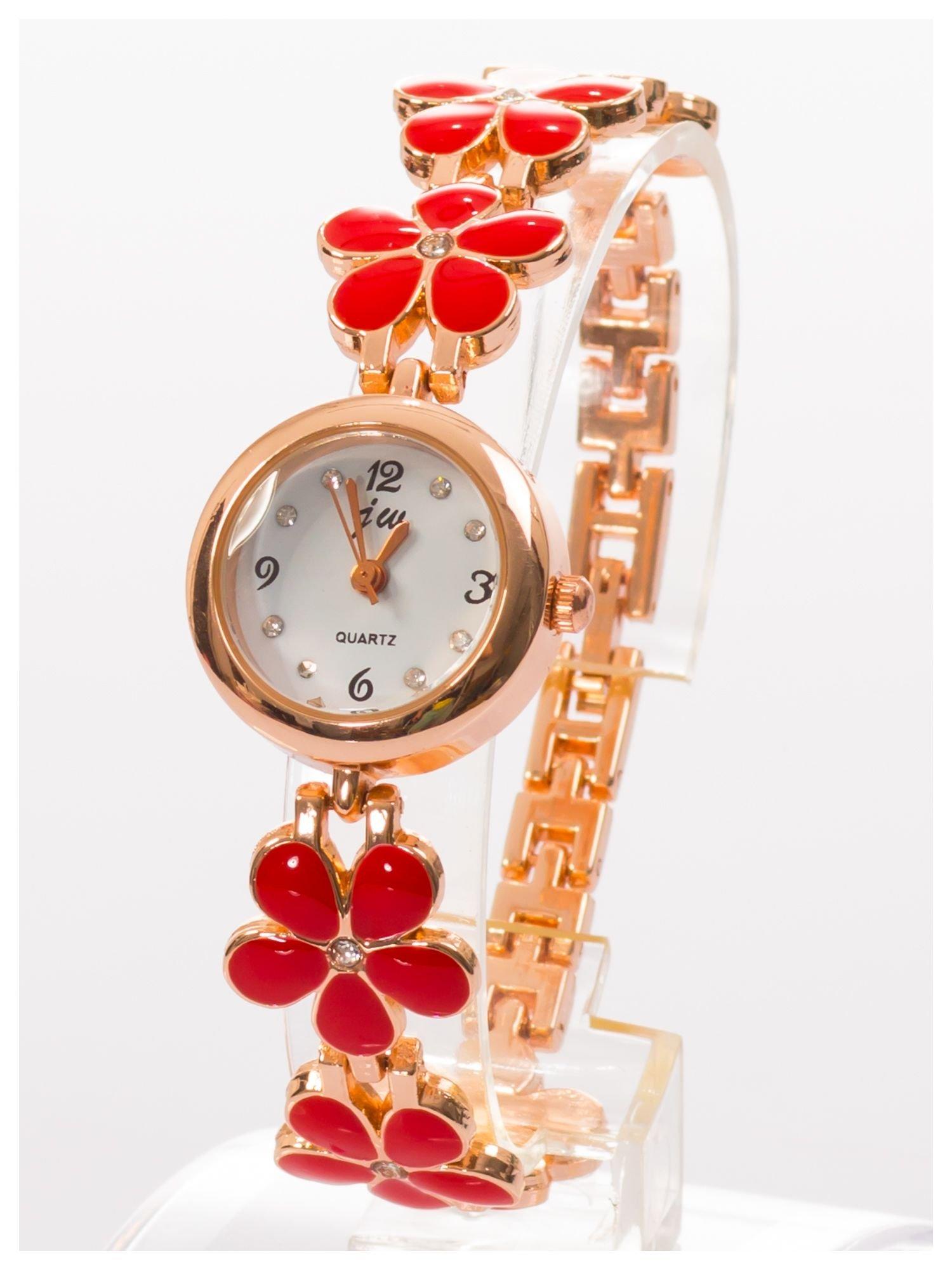 Delikatny śliczny damski zegarek z bransoletką w kształcie kwiatów                                  zdj.                                  2