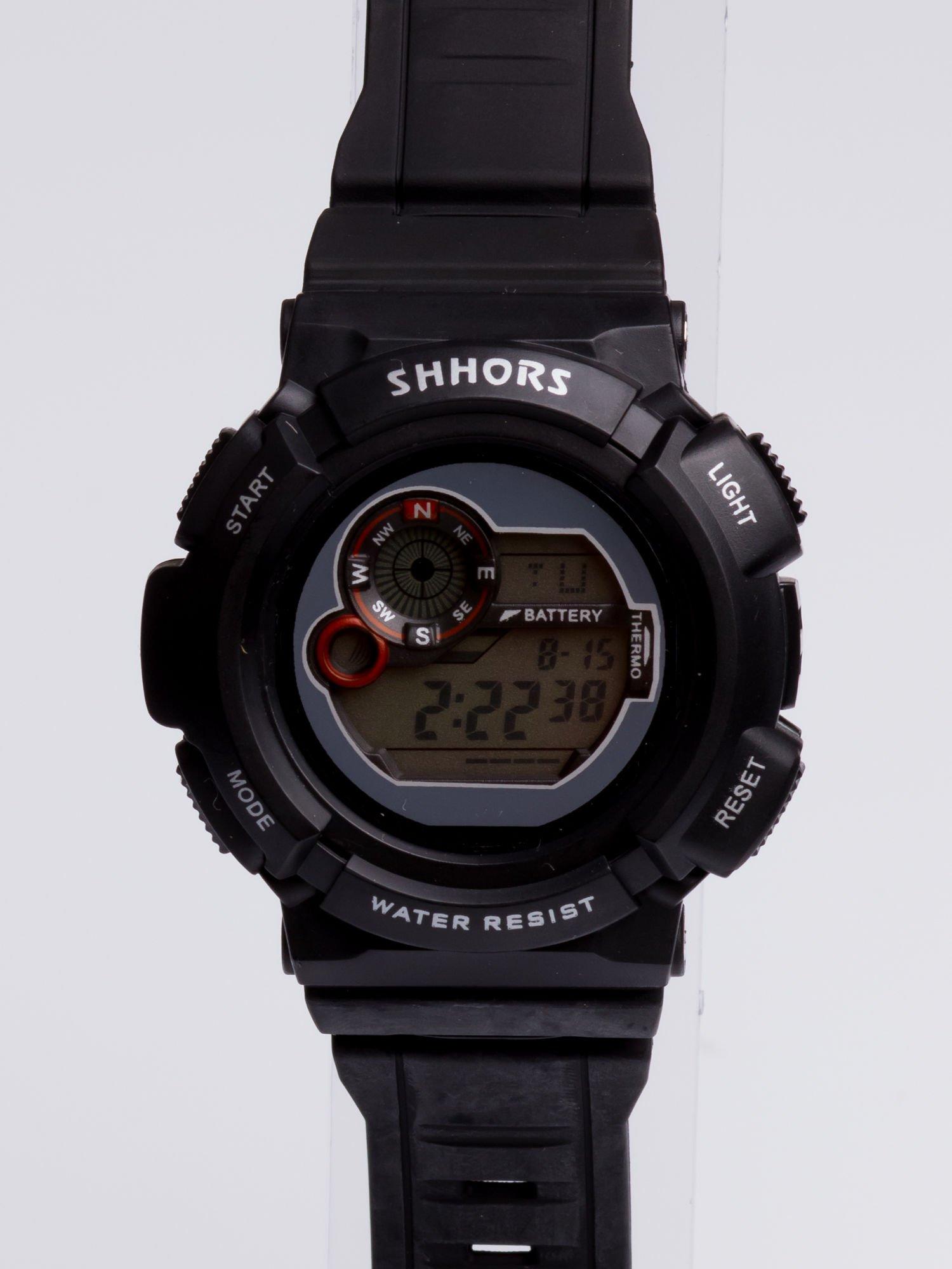 Dla Niego... Czarny sportowy męski zegarek wielofunkcyjny                                   zdj.                                  3