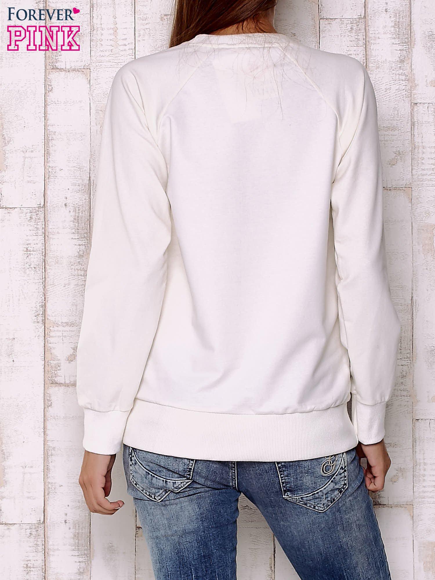 Ecru bluza z bajkowym nadrukiem                                  zdj.                                  4