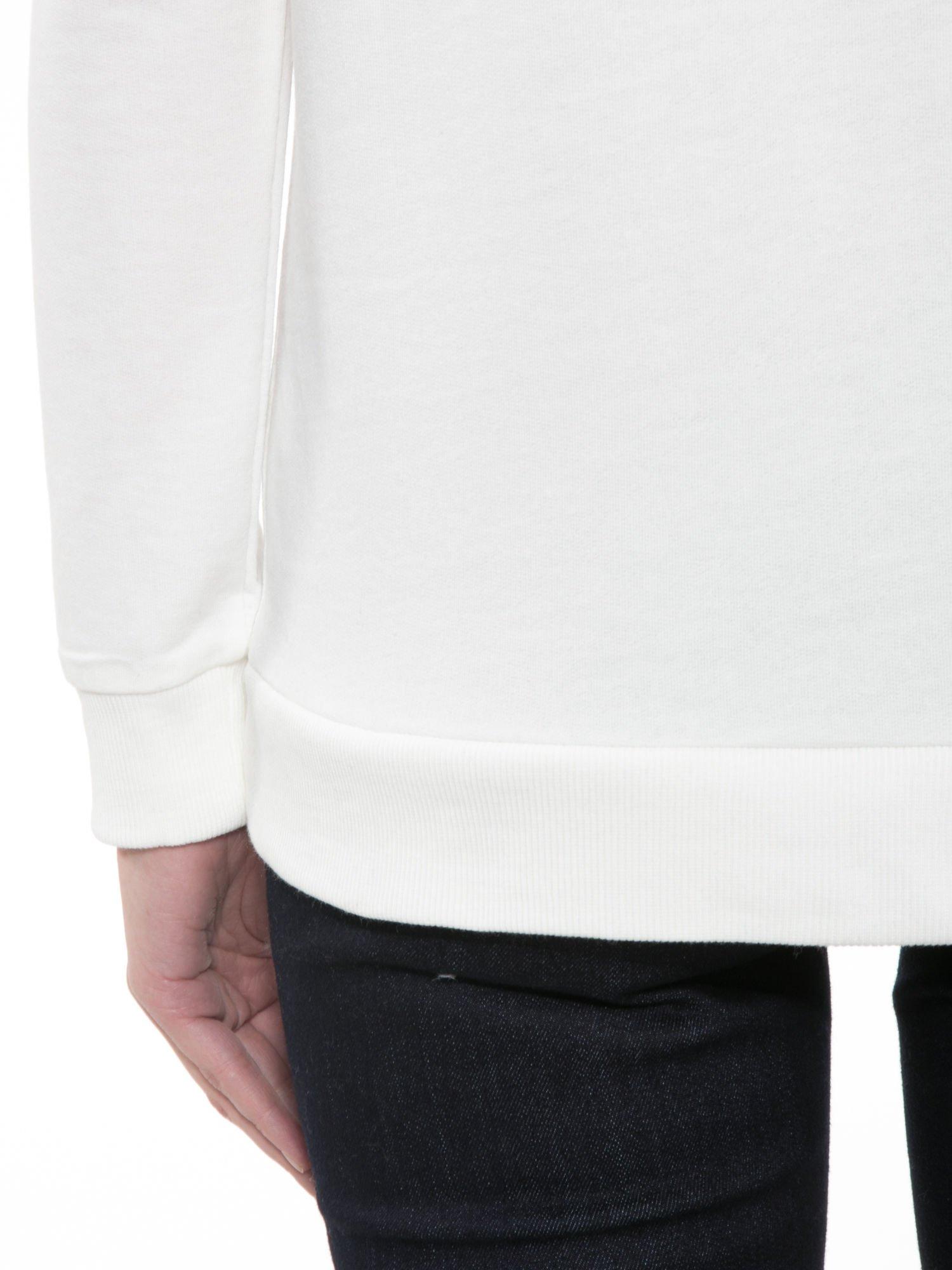 Ecru bluza z kwiatowym nadrukiem litery M                                  zdj.                                  8