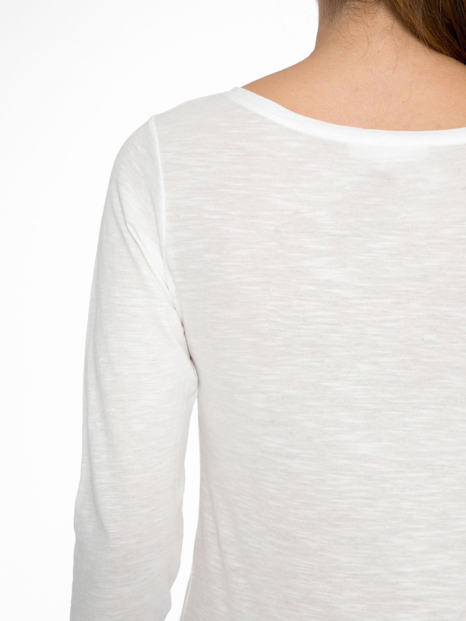 Ecru bluzka z nadrukiem drogi                                  zdj.                                  8