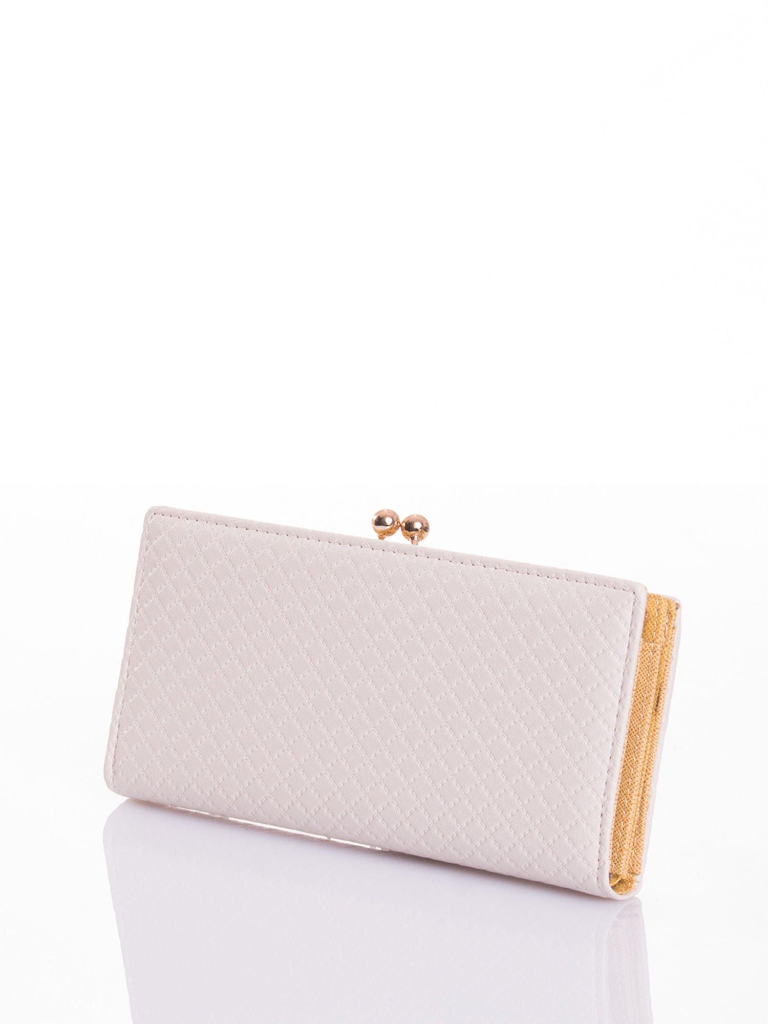 Ecru elegancki portfel na bigiel                                  zdj.                                  2