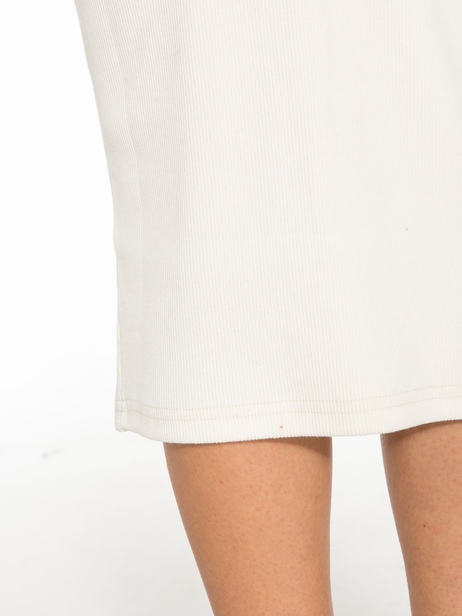 Ecru spódnica midi z suwakiem z przodu                                  zdj.                                  7