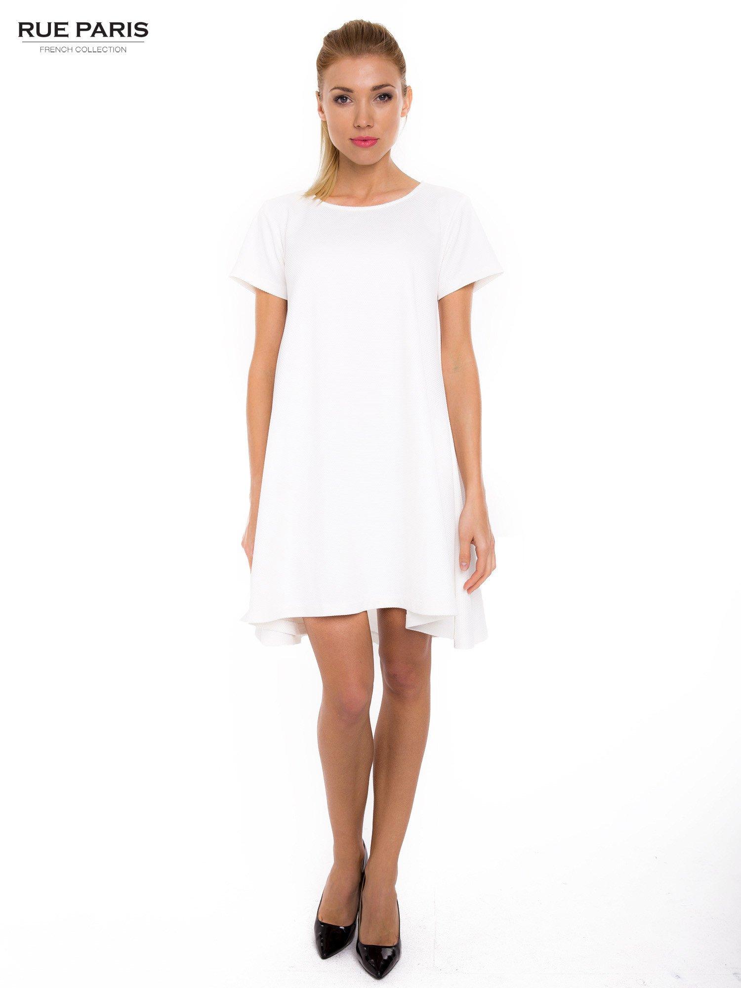 Ecru sukienka rozkloszowana dzwonek                                  zdj.                                  5
